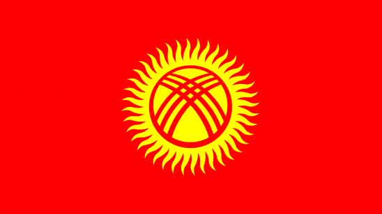 kyrgyzstan flag uhd 4k wallpaper