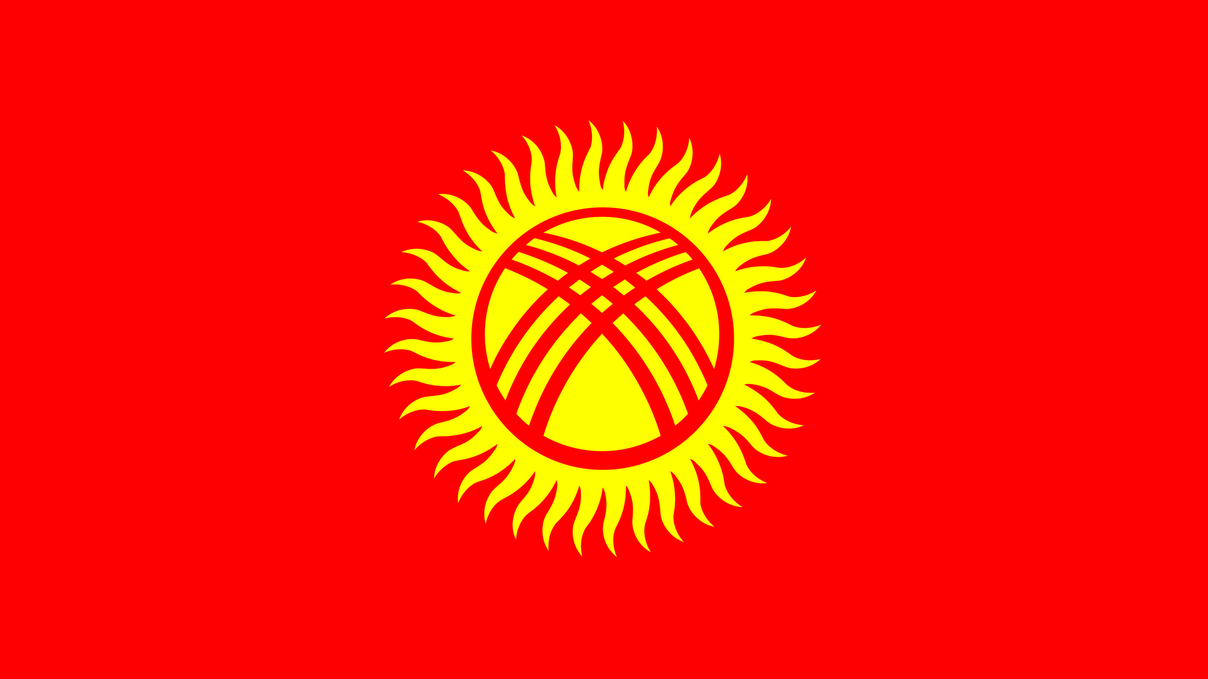 kyrgyzstan flag uhd 4k wallpaper