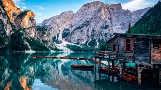 lake prags pragser wildsee italy uhd 4k wallpaper