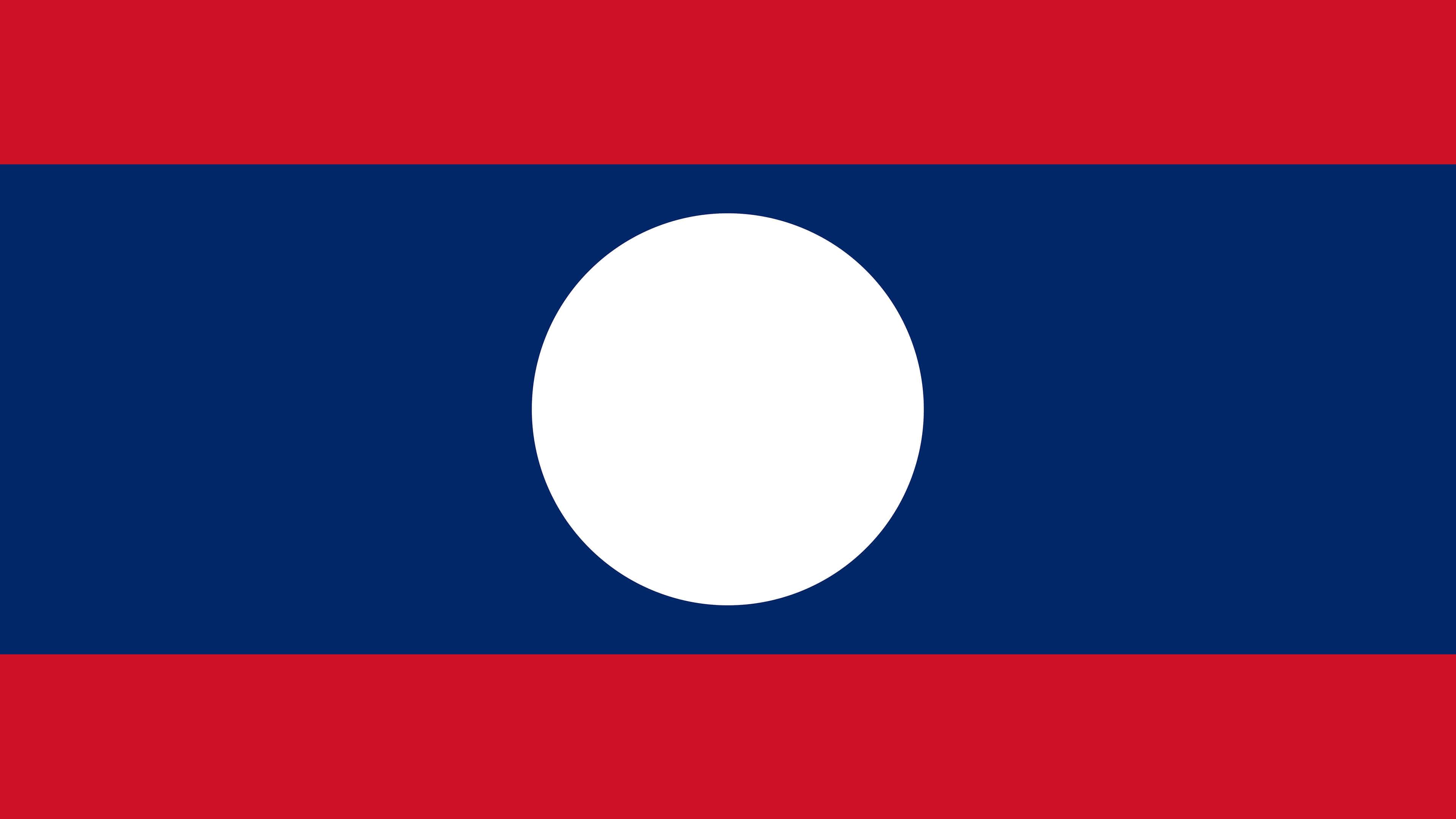 laos flag uhd 4k wallpaper