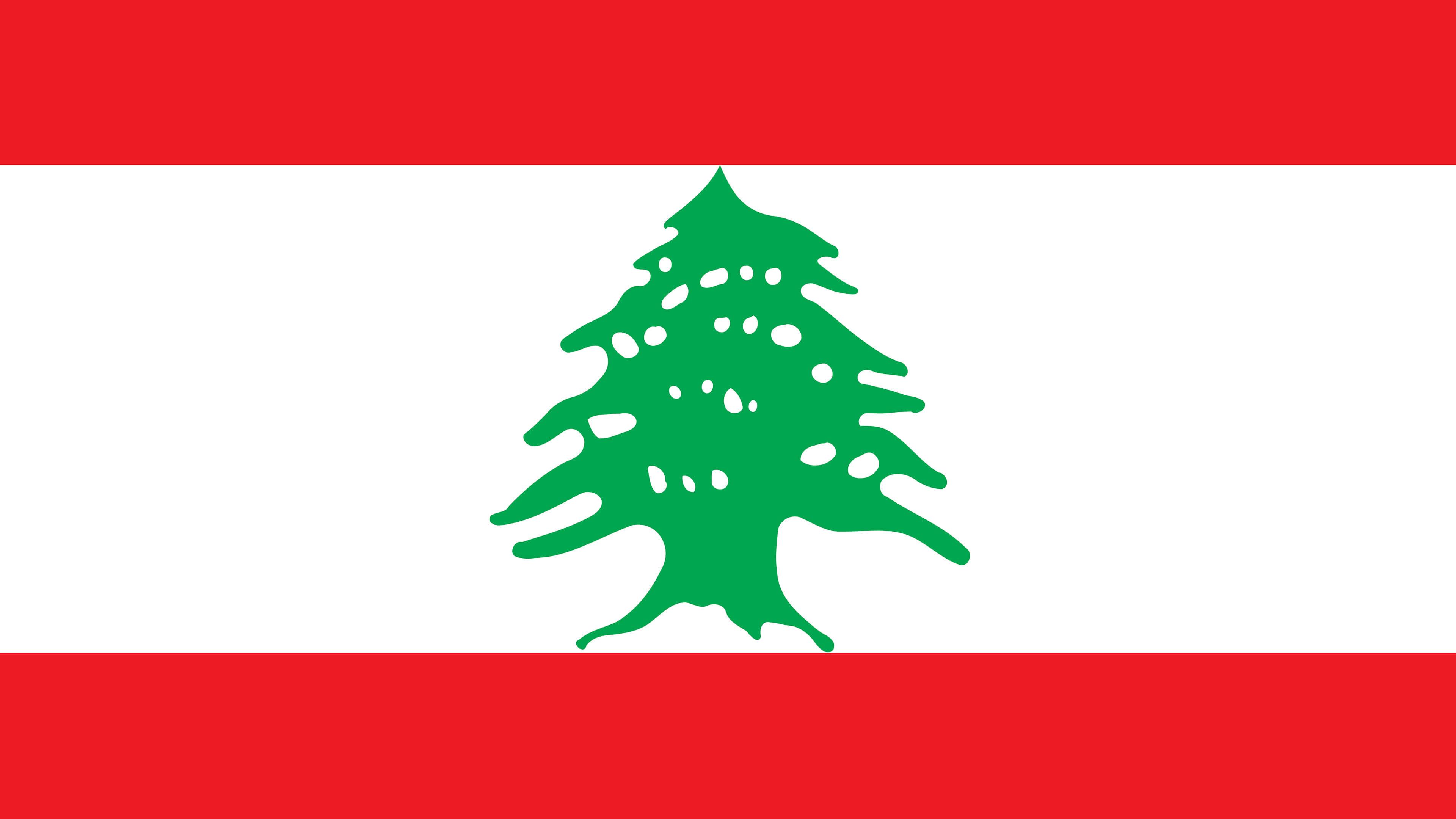 lebanon flag uhd 4k wallpaper