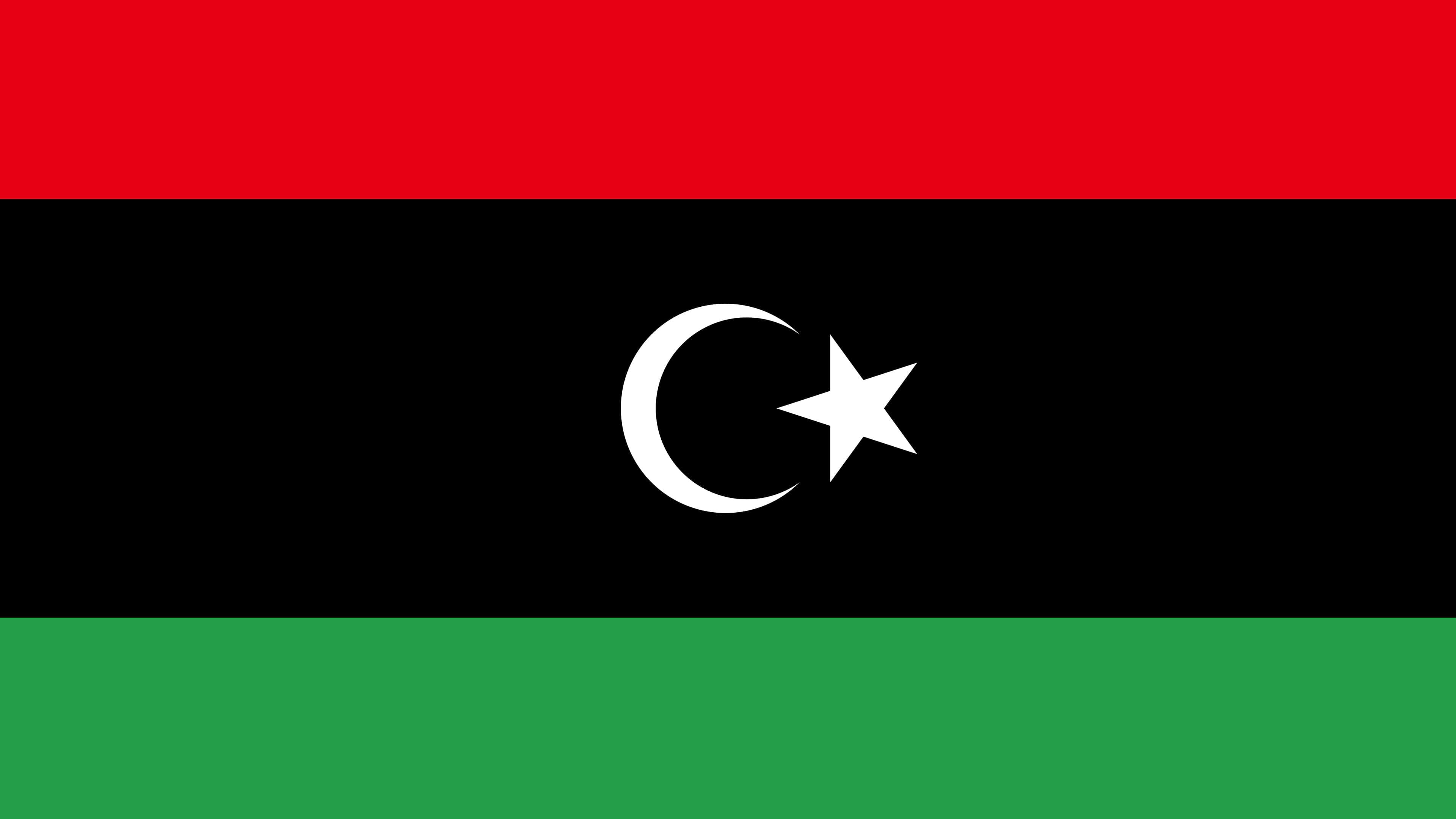 libya flag uhd 4k wallpaper