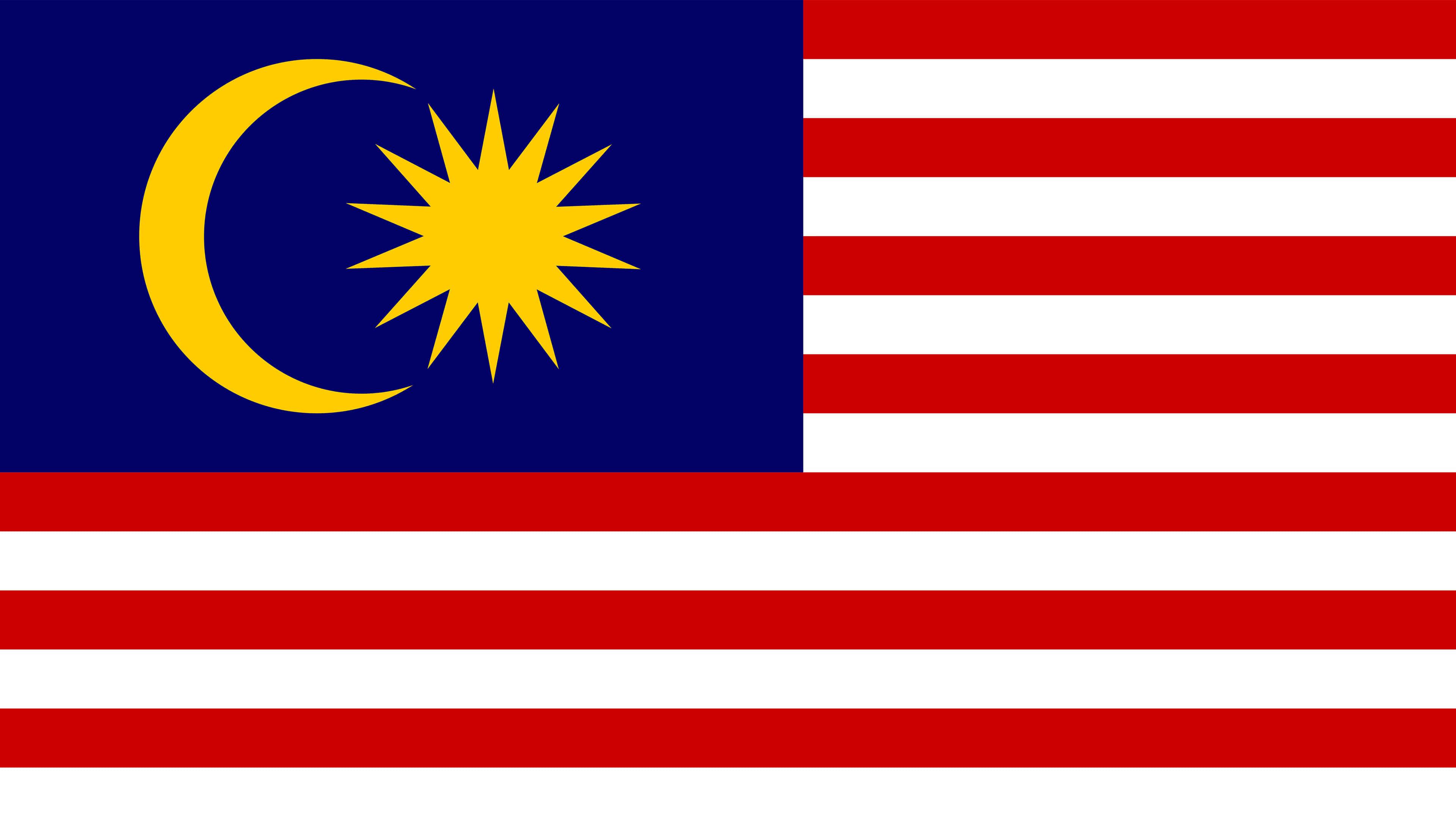 malaysia flag uhd 4k wallpaper
