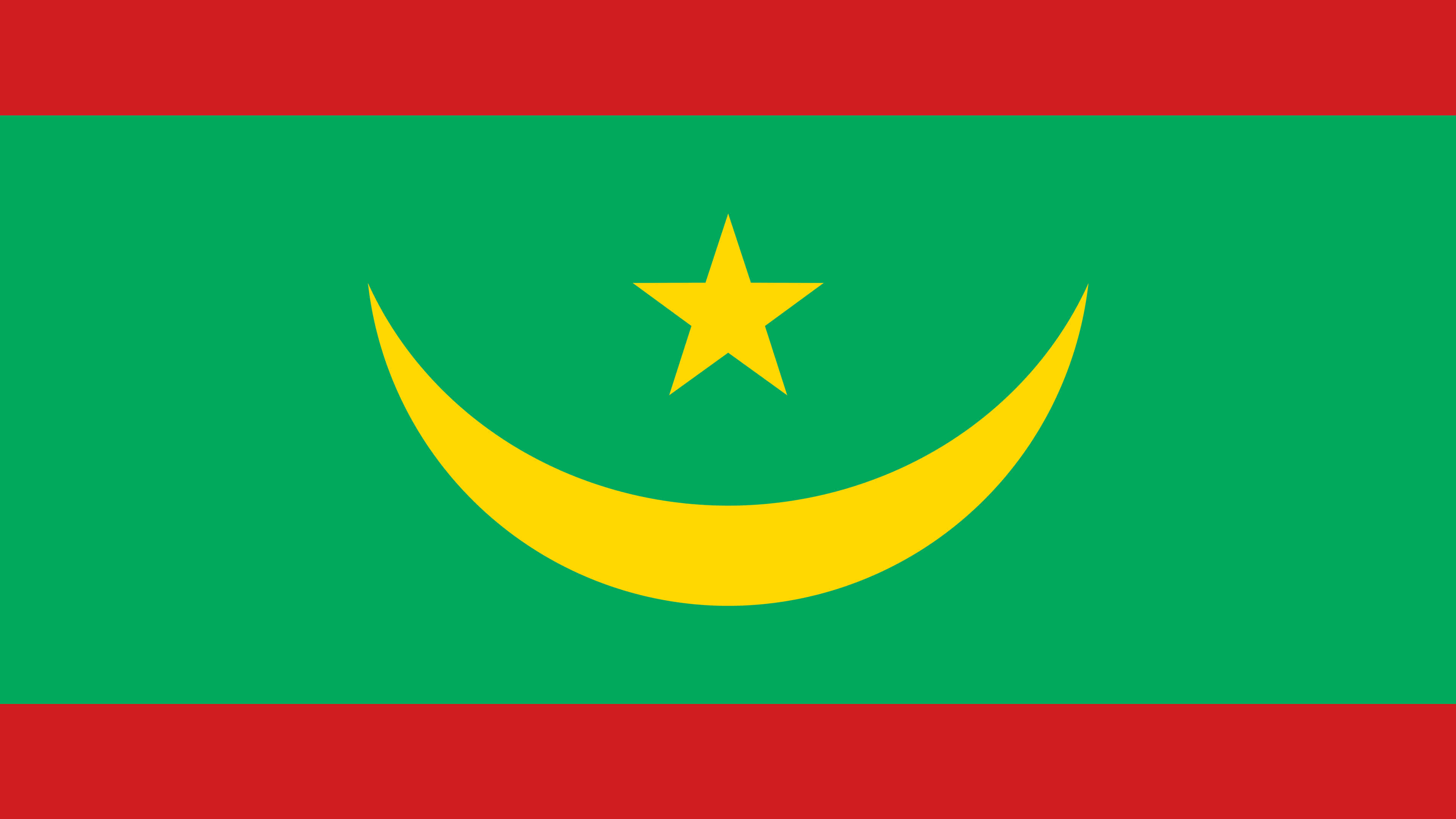 mauritania flag uhd 4k wallpaper