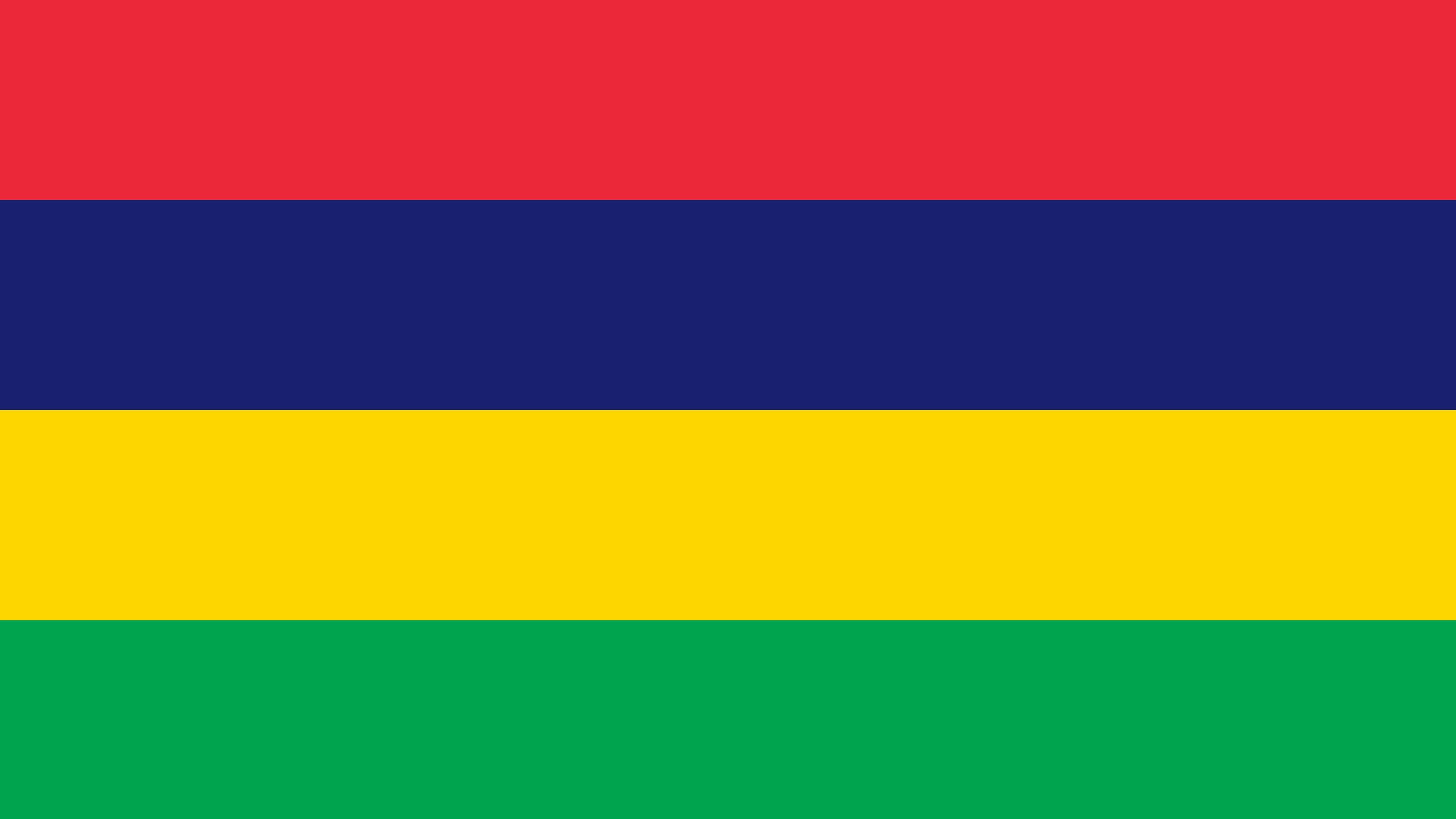 mauritius flag uhd 4k wallpaper