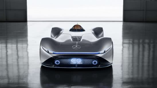 mercedes benz vision eq silver arrow front uhd 4k wallpaper