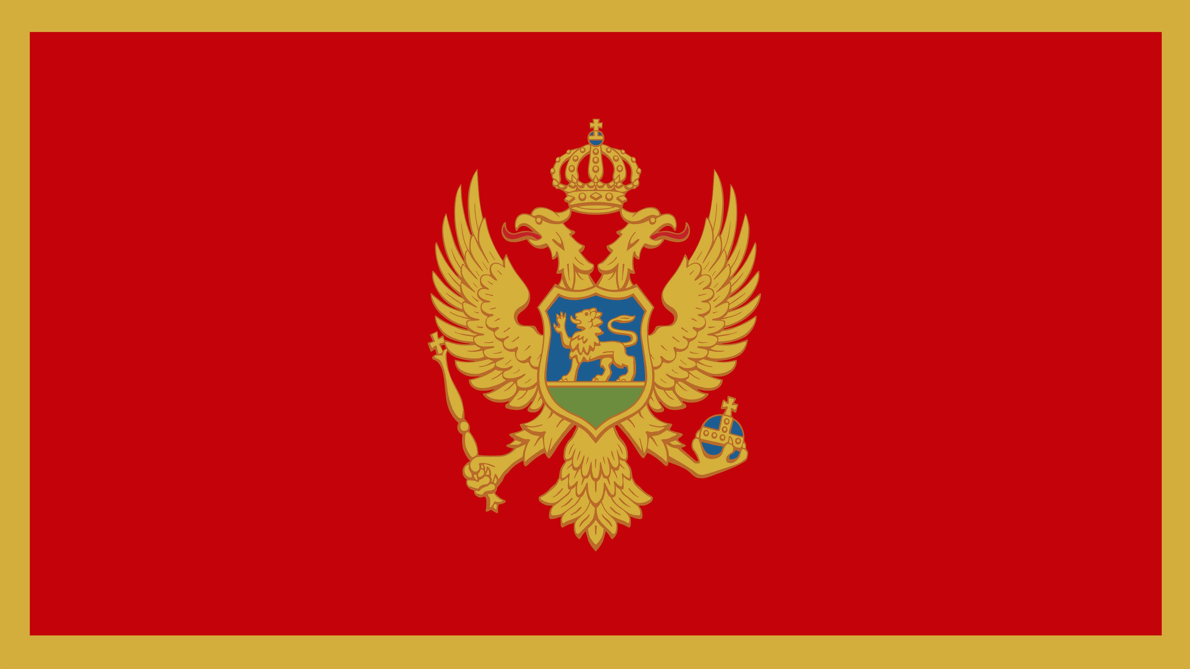 montenegro flag uhd 4k wallpaper