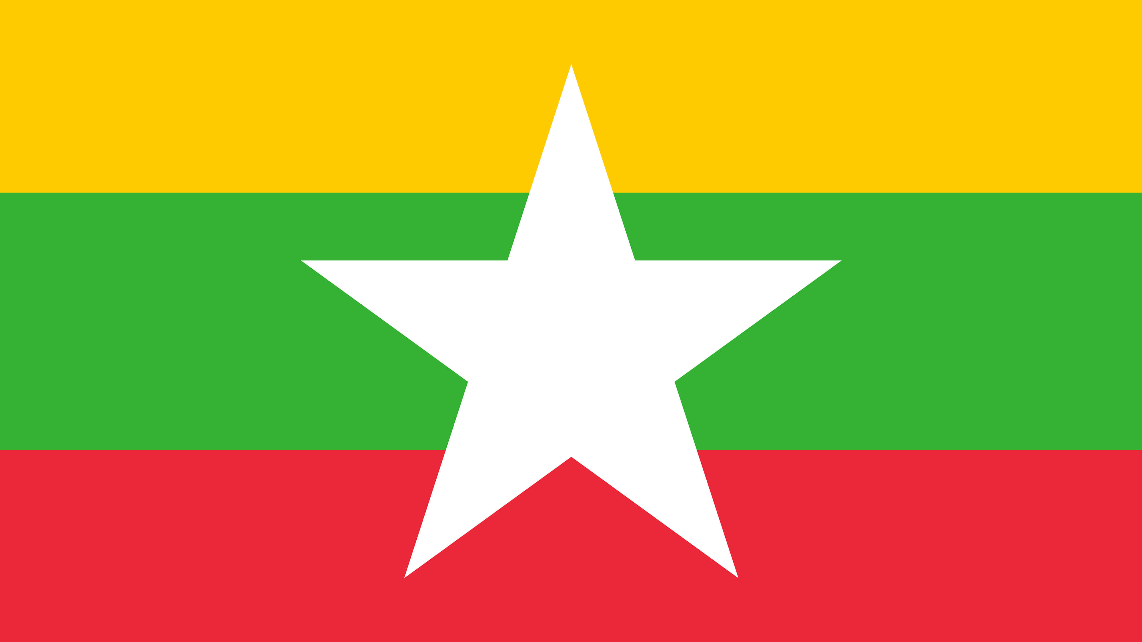 myanmar flag uhd 4k wallpaper