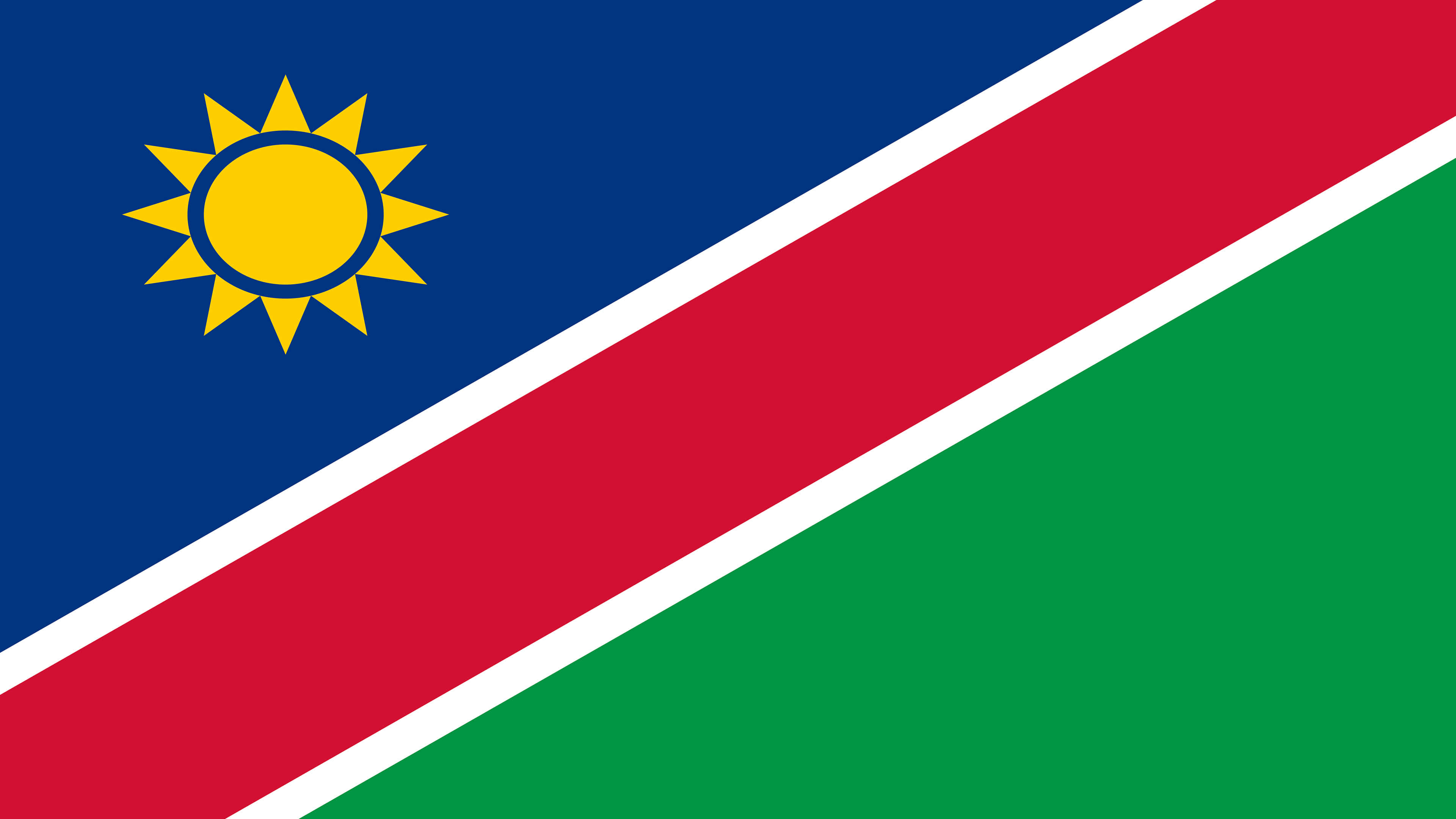 namibia flag uhd 4k wallpaper