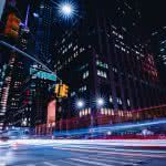 new york city street long exposure united states uhd 4k wallpaper