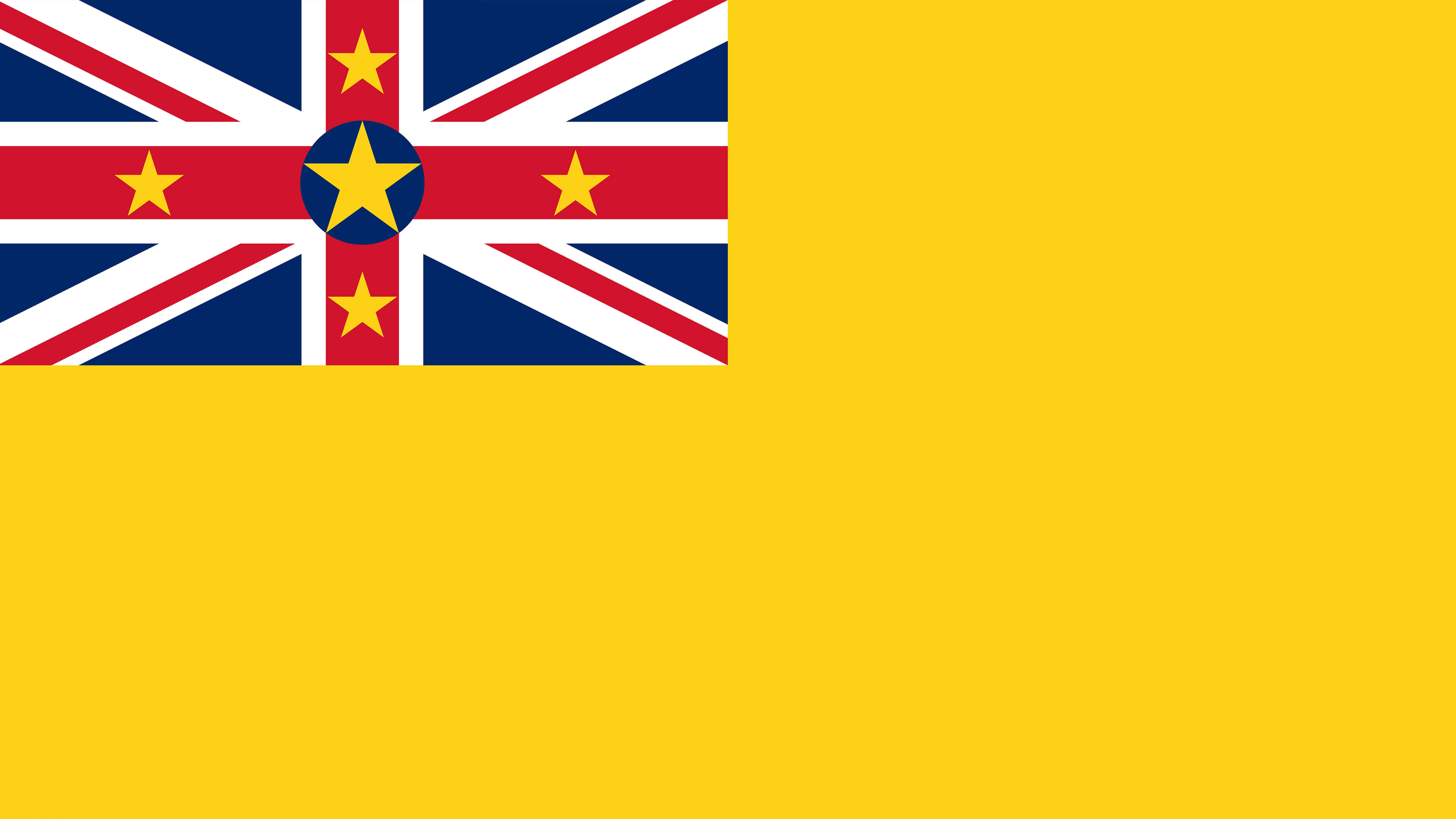 niue flag uhd 4k wallpaper