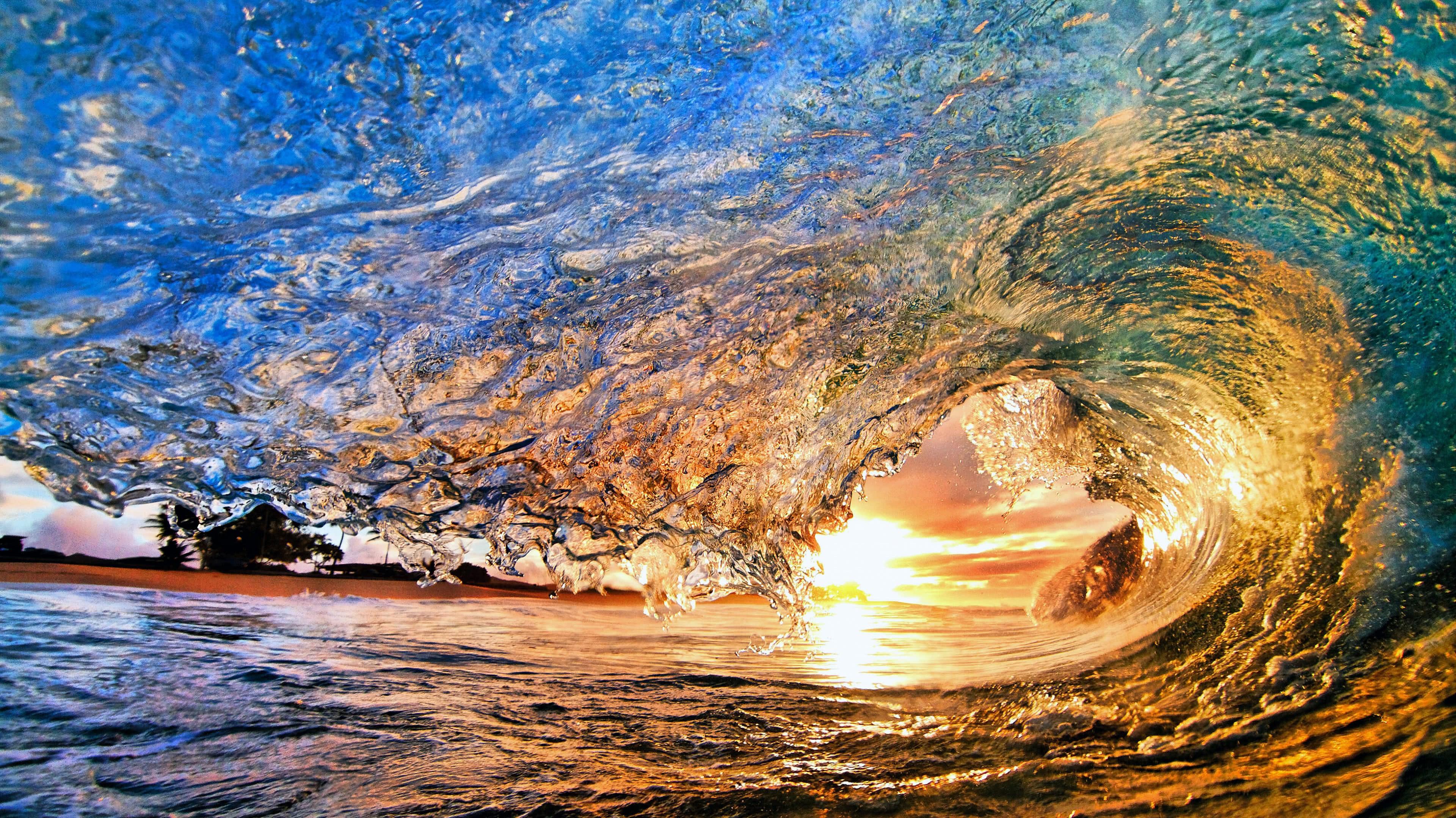ocean wave hawaii united states uhd 4k wallpaper
