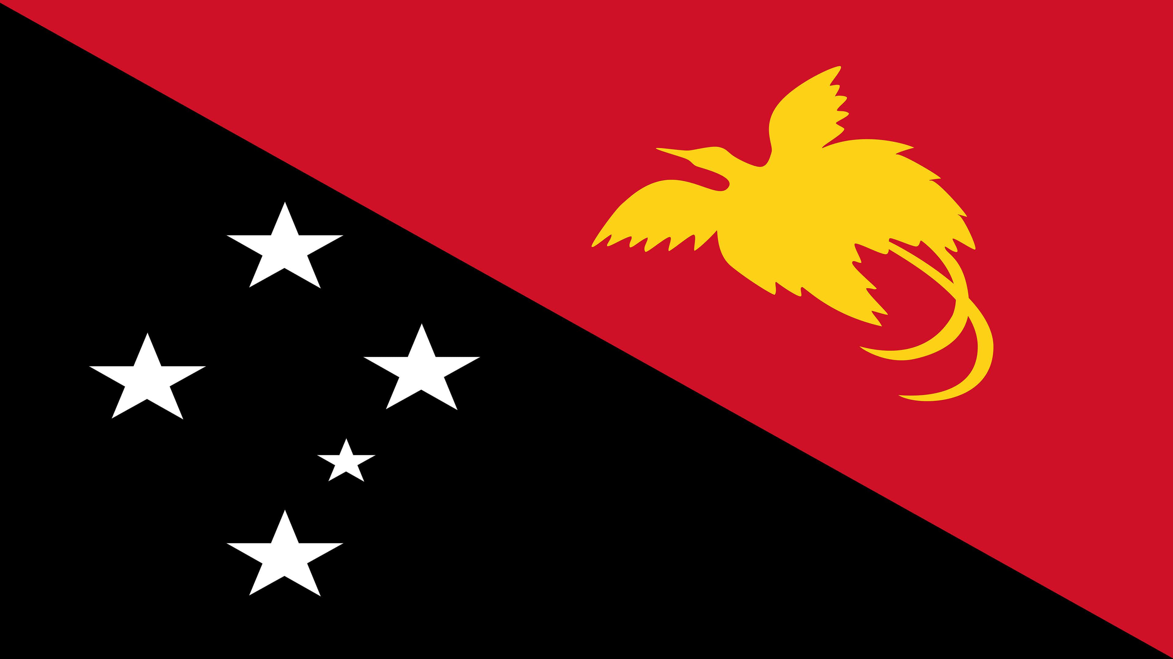 papua new guinea flag uhd 4k wallpaper