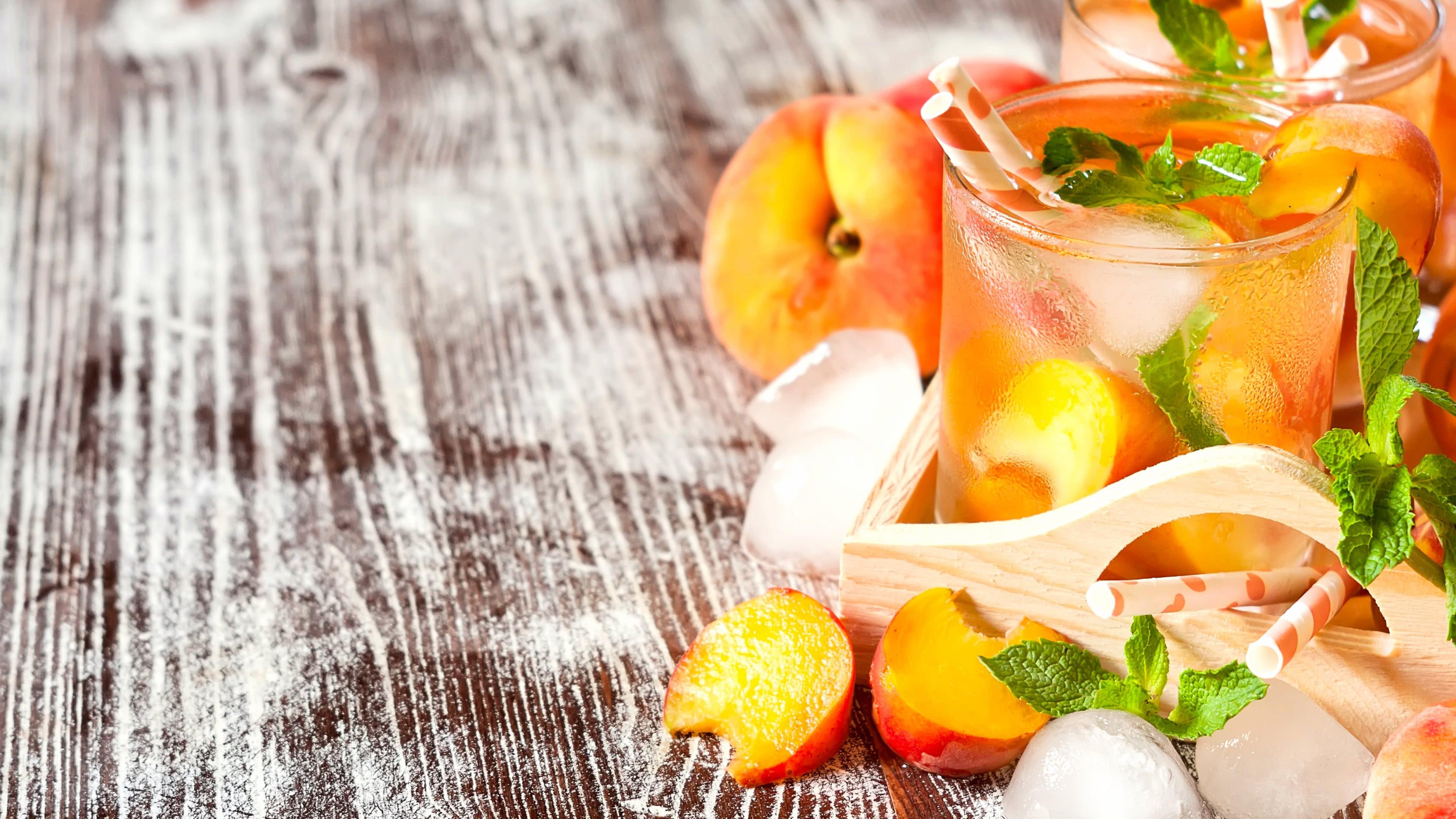 peach cocktail uhd 4k wallpaper