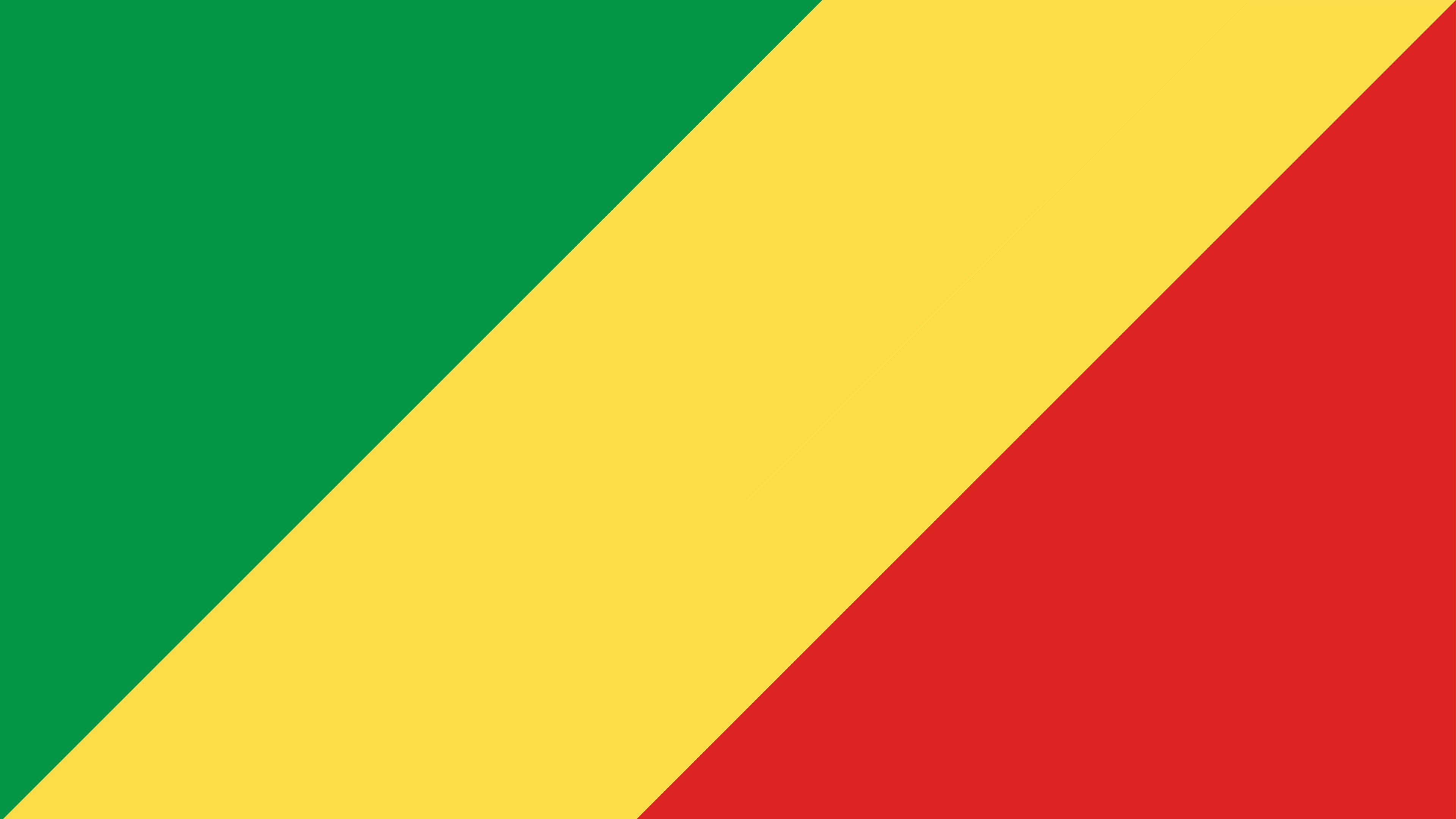 republic of the congo flag uhd 4k wallpaper