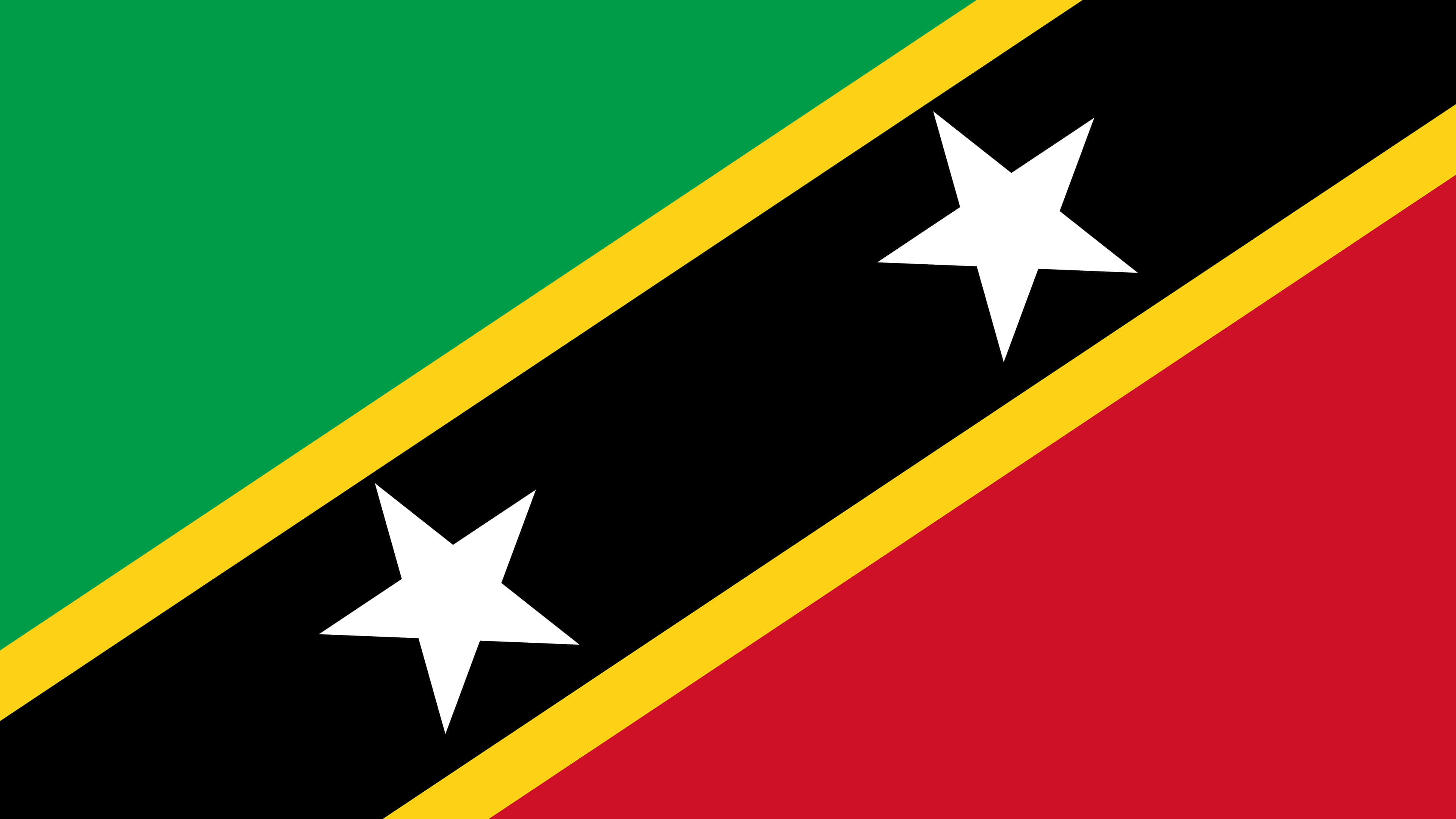 saint kitts and nevis flag uhd 4k wallpaper