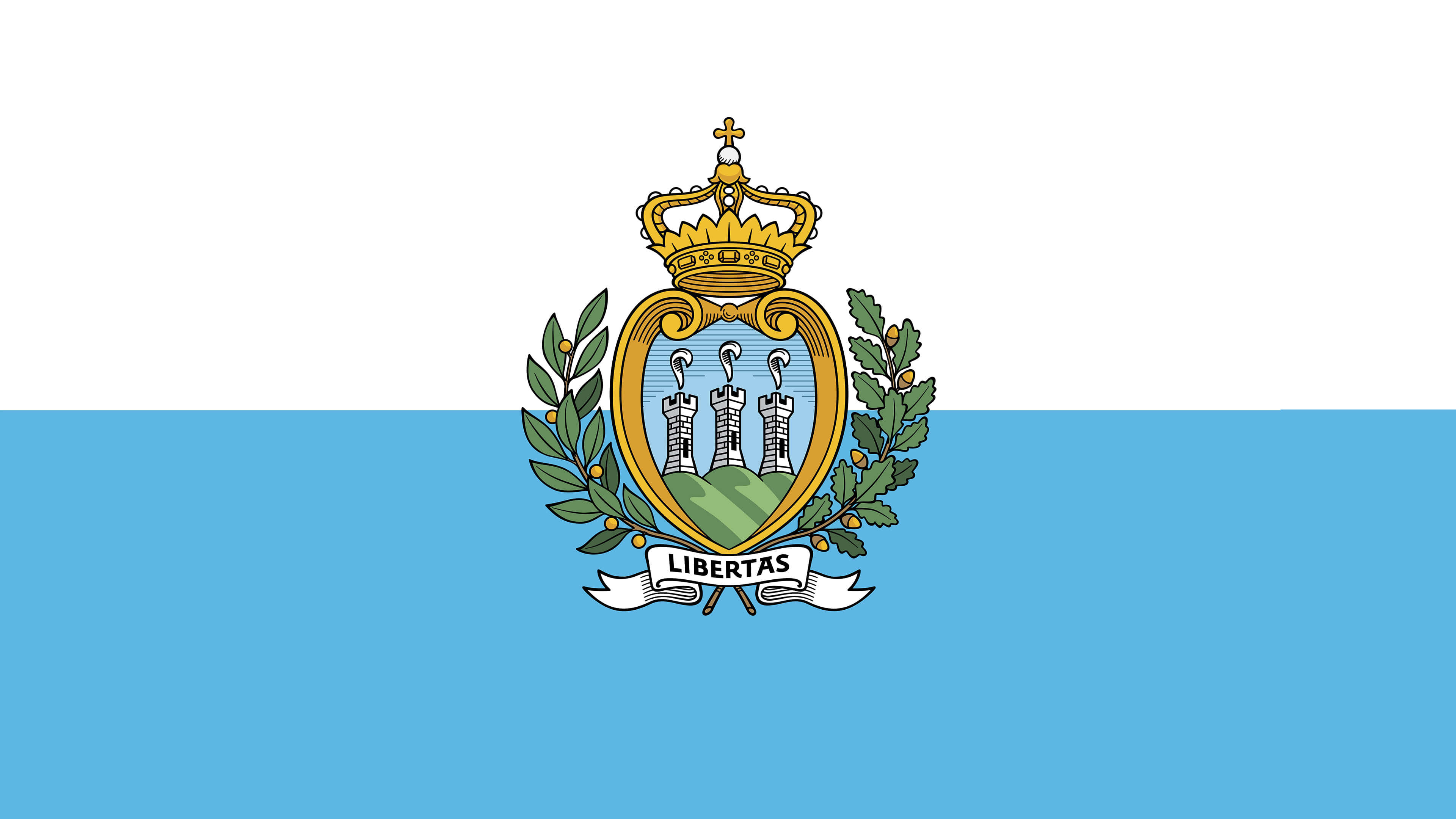 san marino flag uhd 4k wallpaper