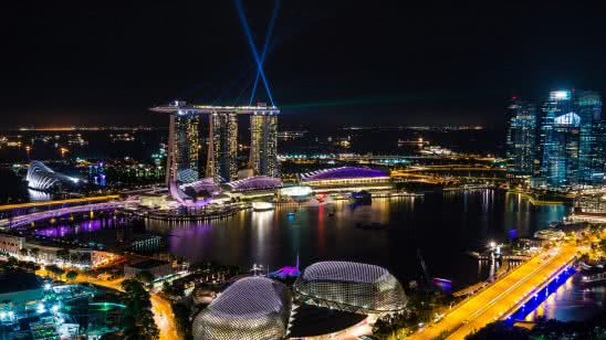 singapore marina bay night uhd 4k wallpaper