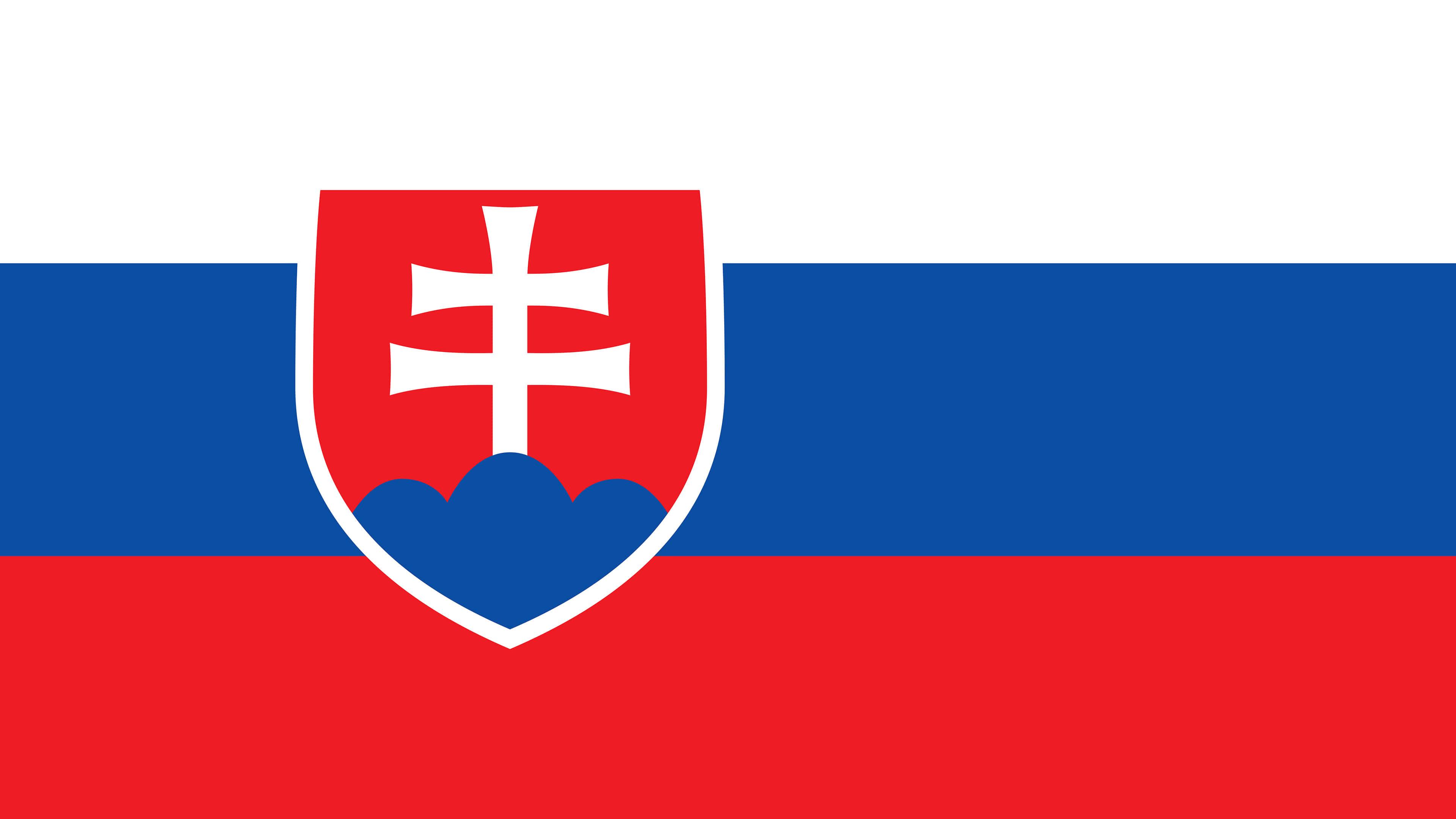 slovakia flag uhd 4k wallpaper