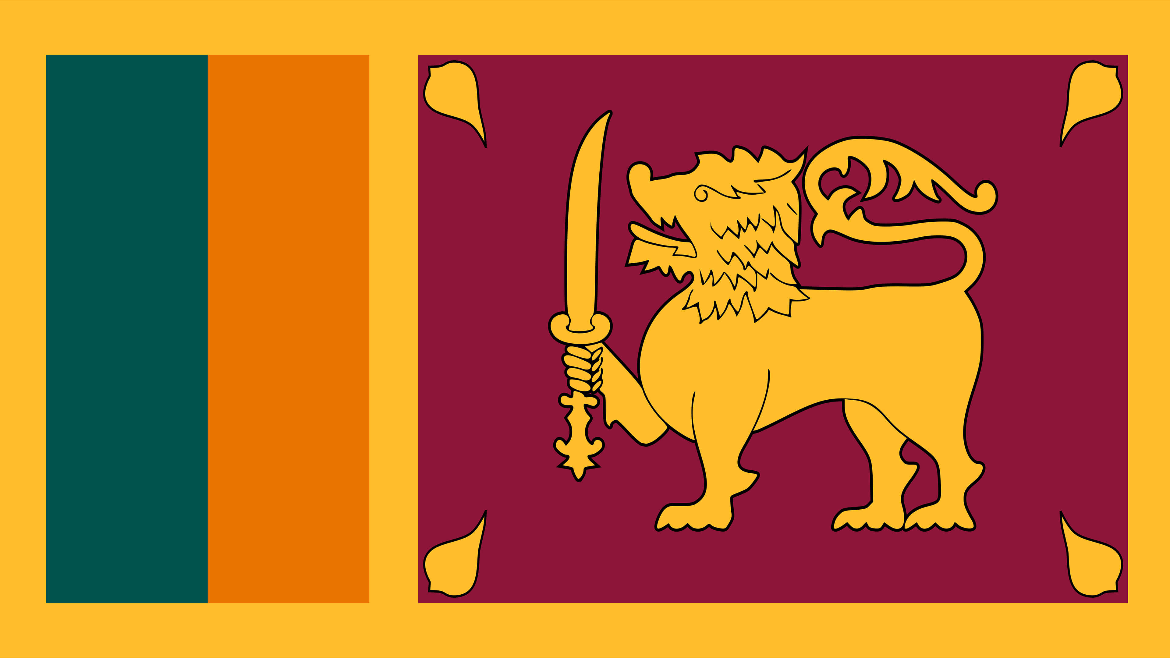 sri lanka flag uhd 4k wallpaper