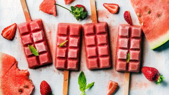 strawberry watermelon popsicles uhd 4k wallpaper