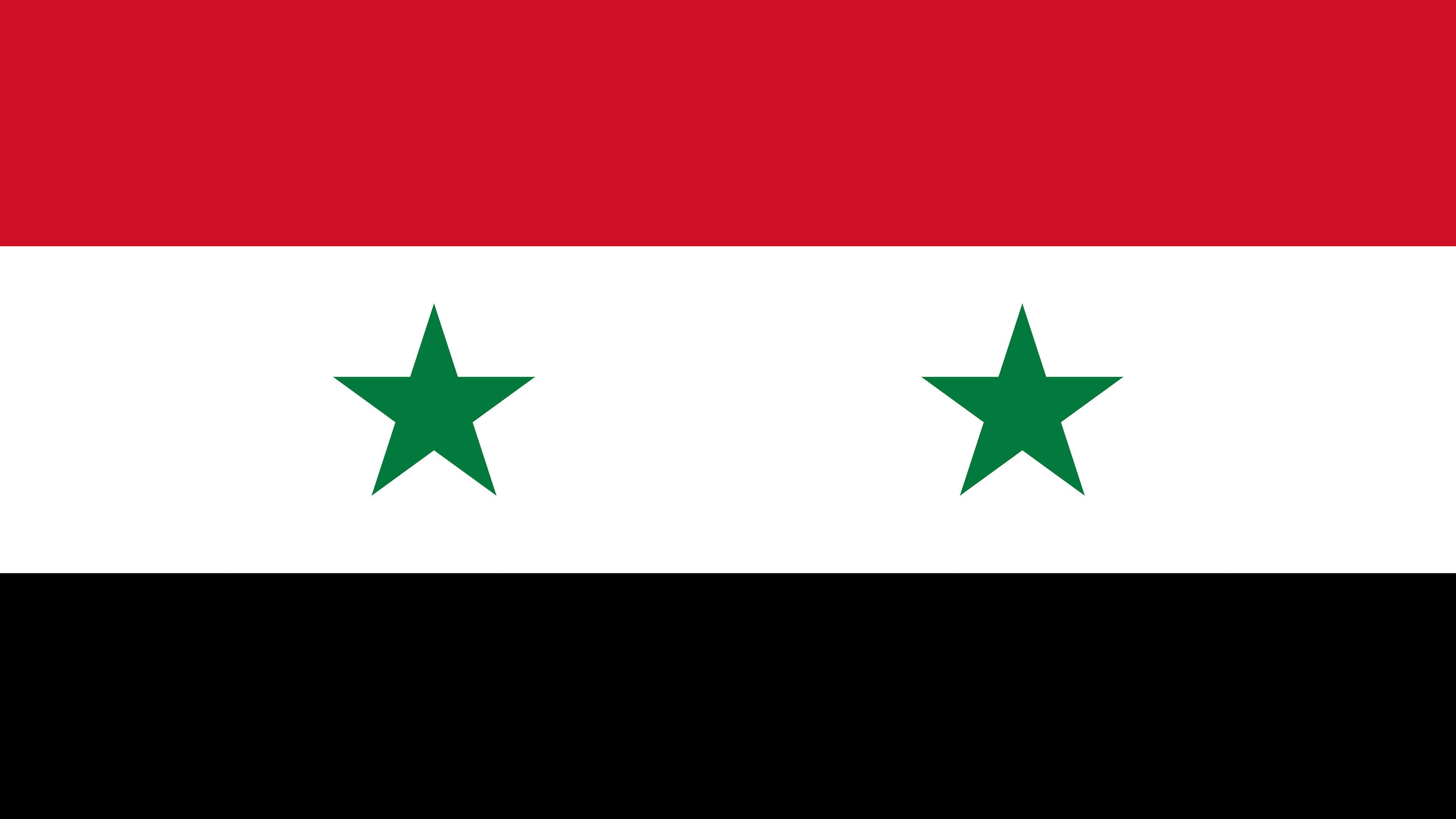 syria flag uhd 4k wallpaper