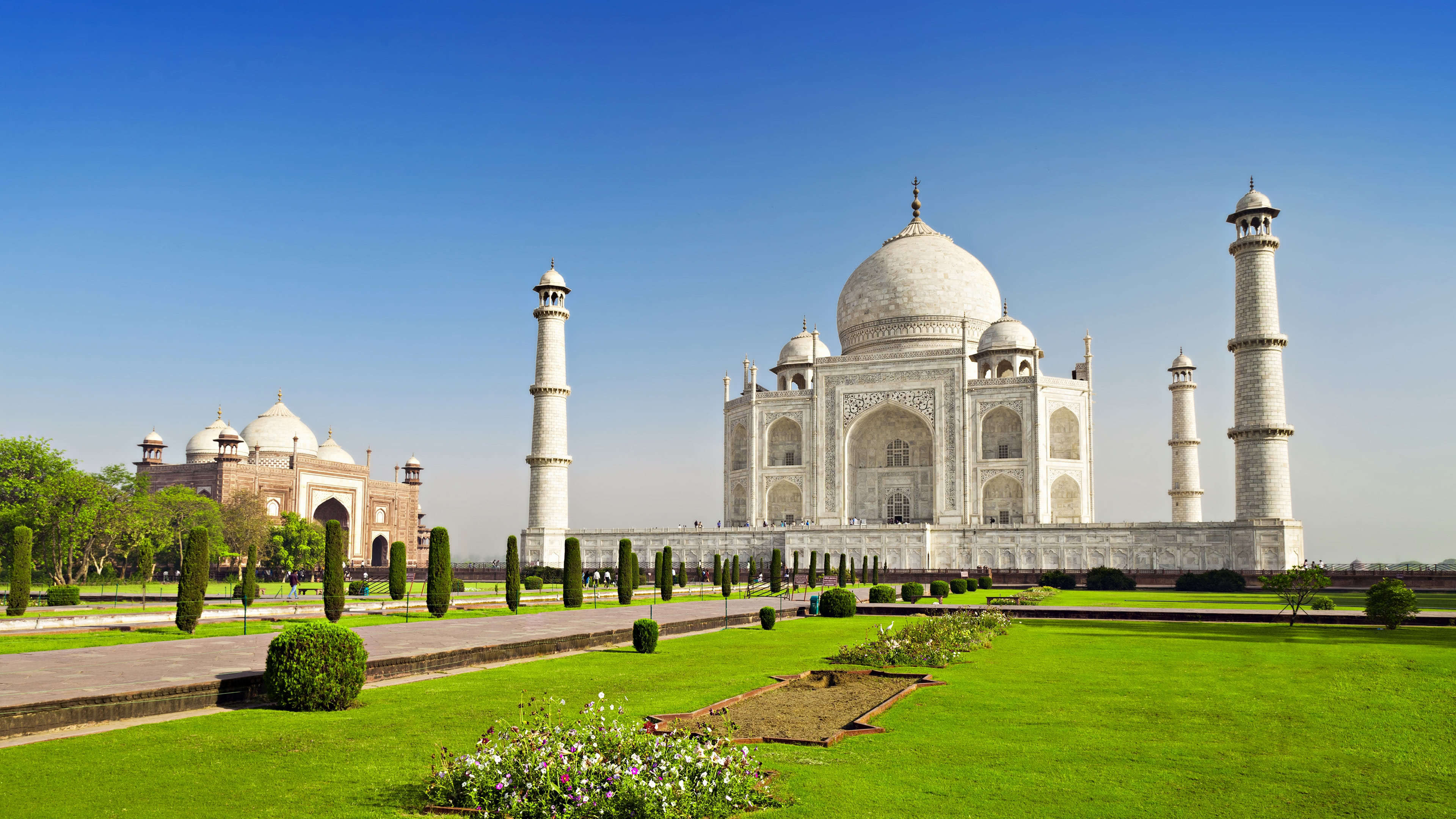 taj mahal india uhd 4k wallpaper