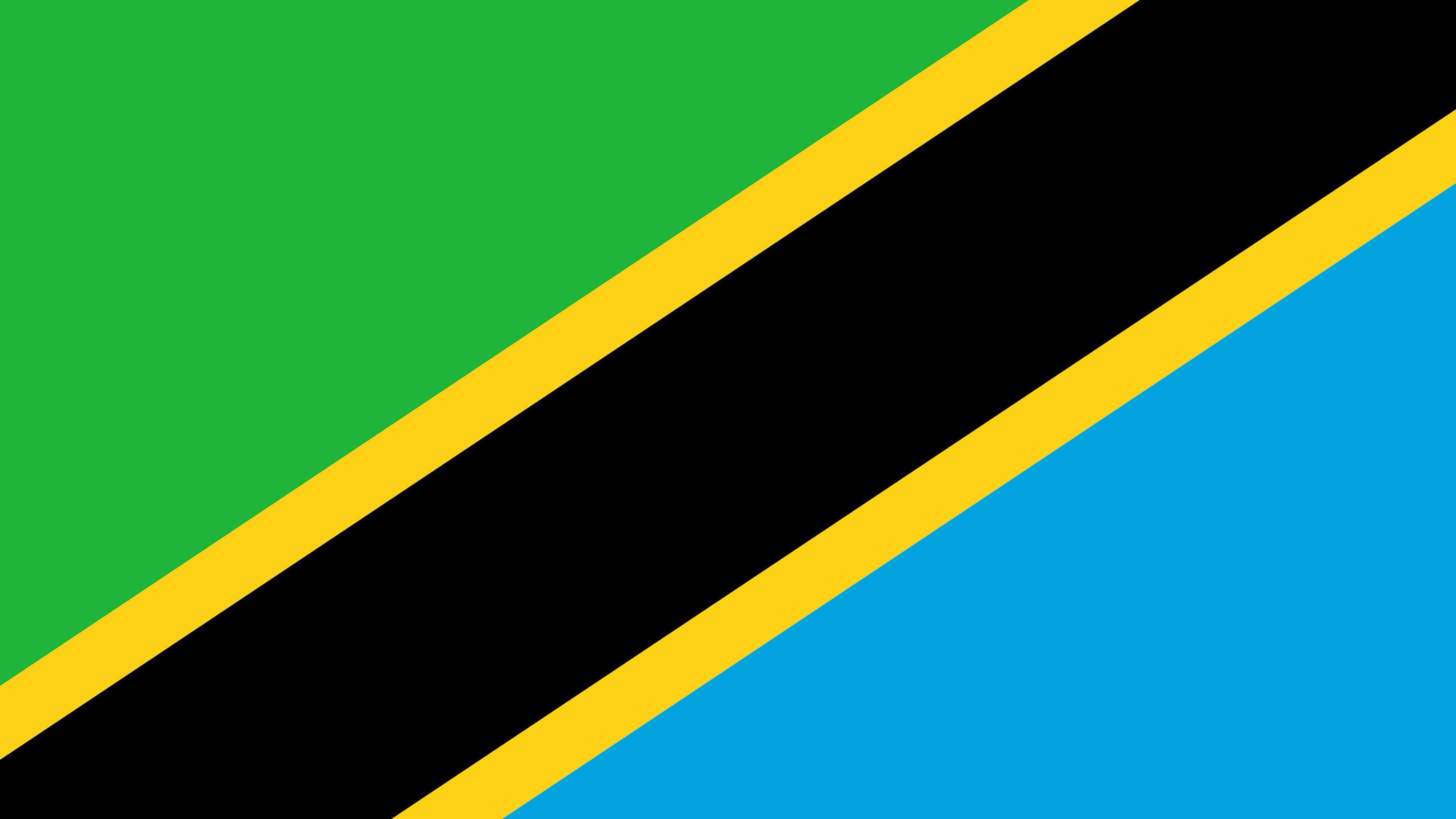 tanzania flag uhd 4k wallpaper