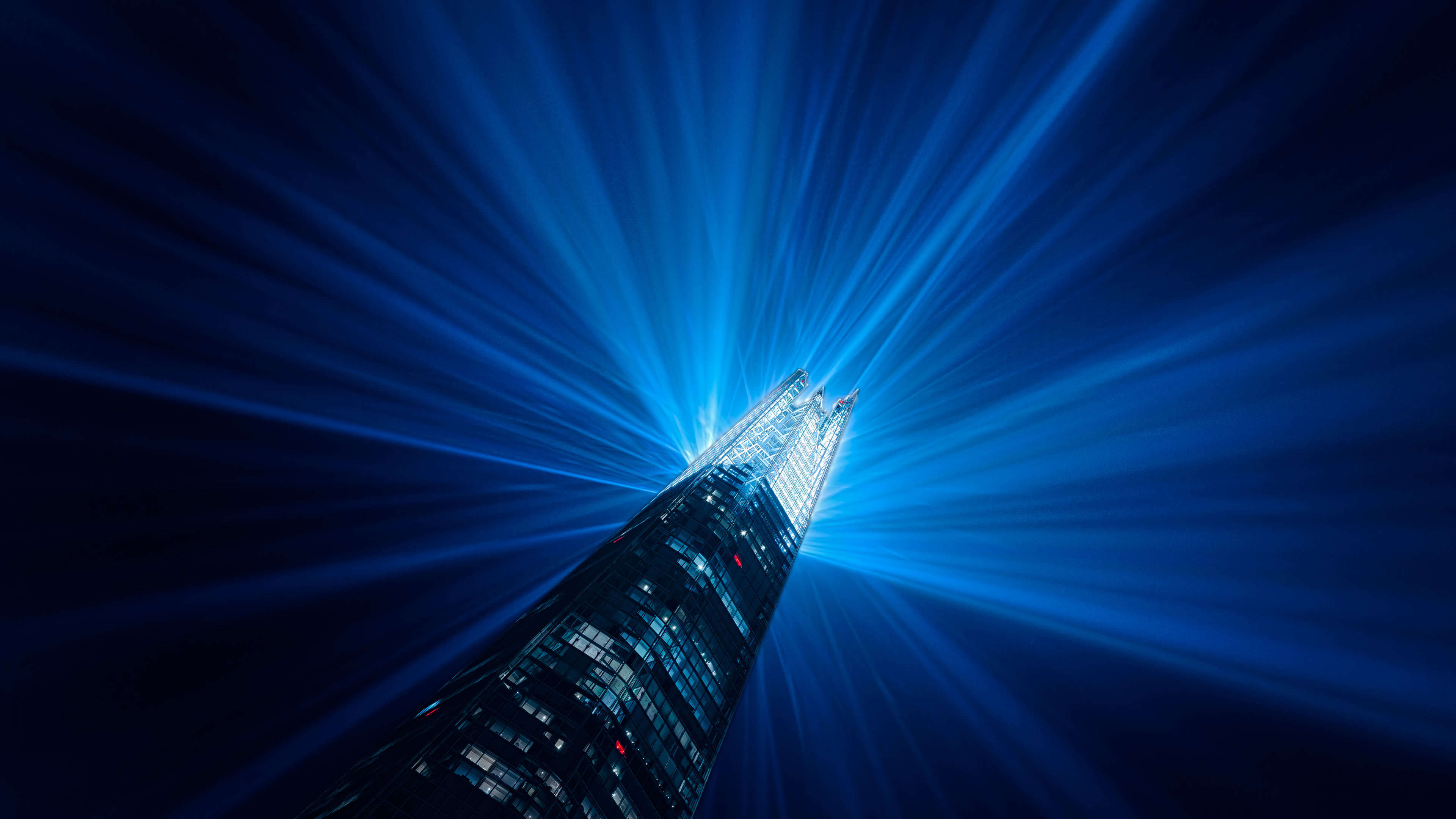 the shard new years eve light show london england uhd 4k wallpaper