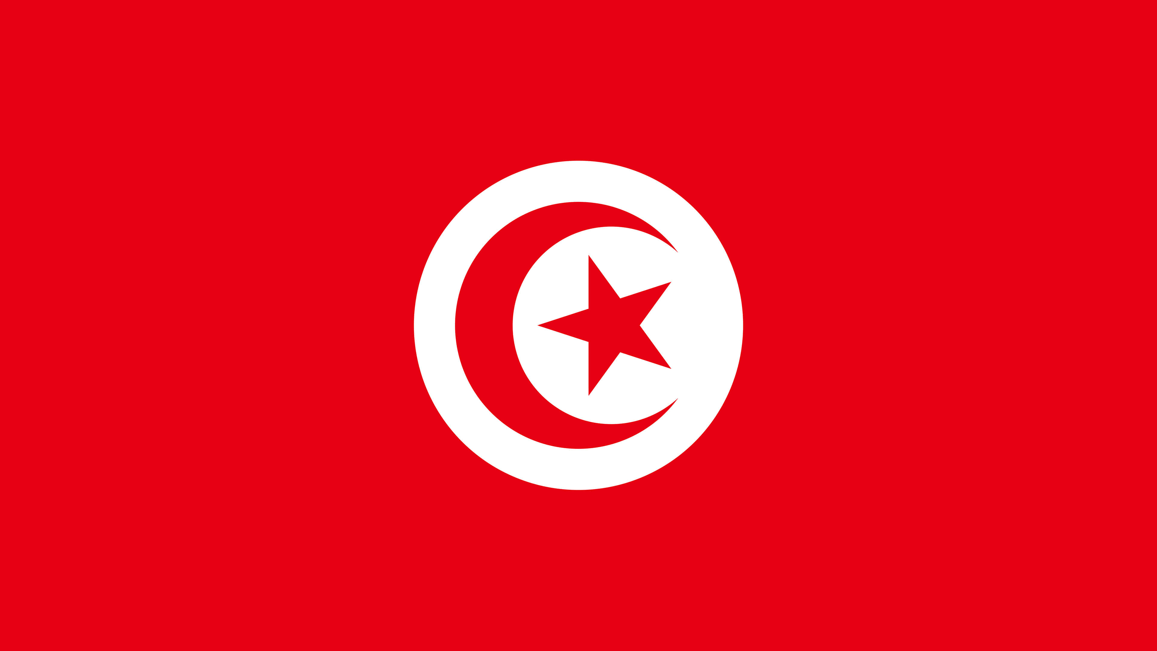 tunisia flag uhd 4k wallpaper