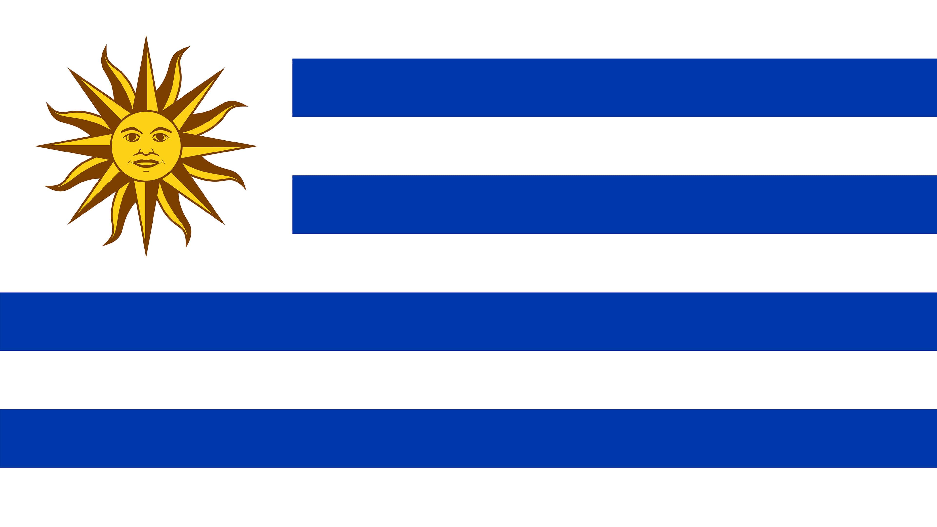 uruguay flag uhd 4k wallpaper