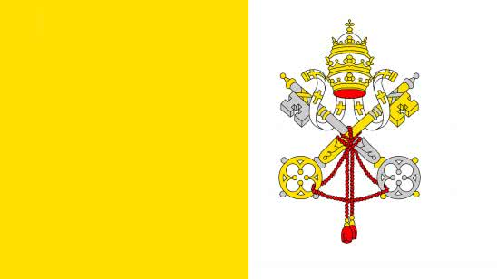 vatican city flag uhd 4k wallpaper