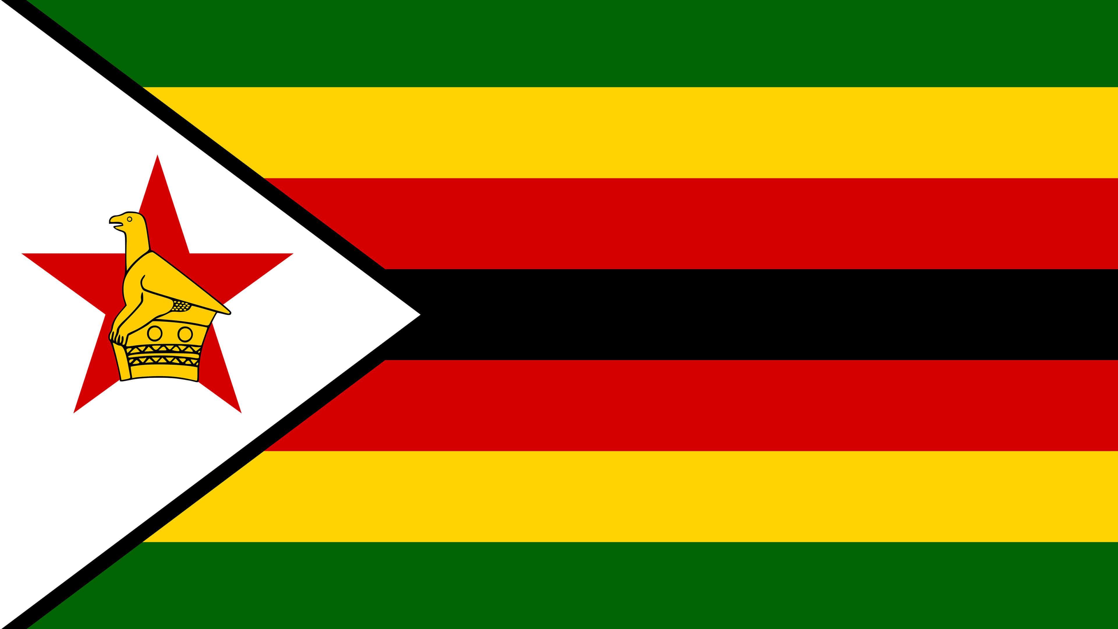 zimbabwe flag uhd 4k wallpaper