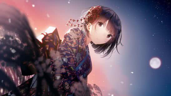 anime girl kimono uhd 4k wallpaper