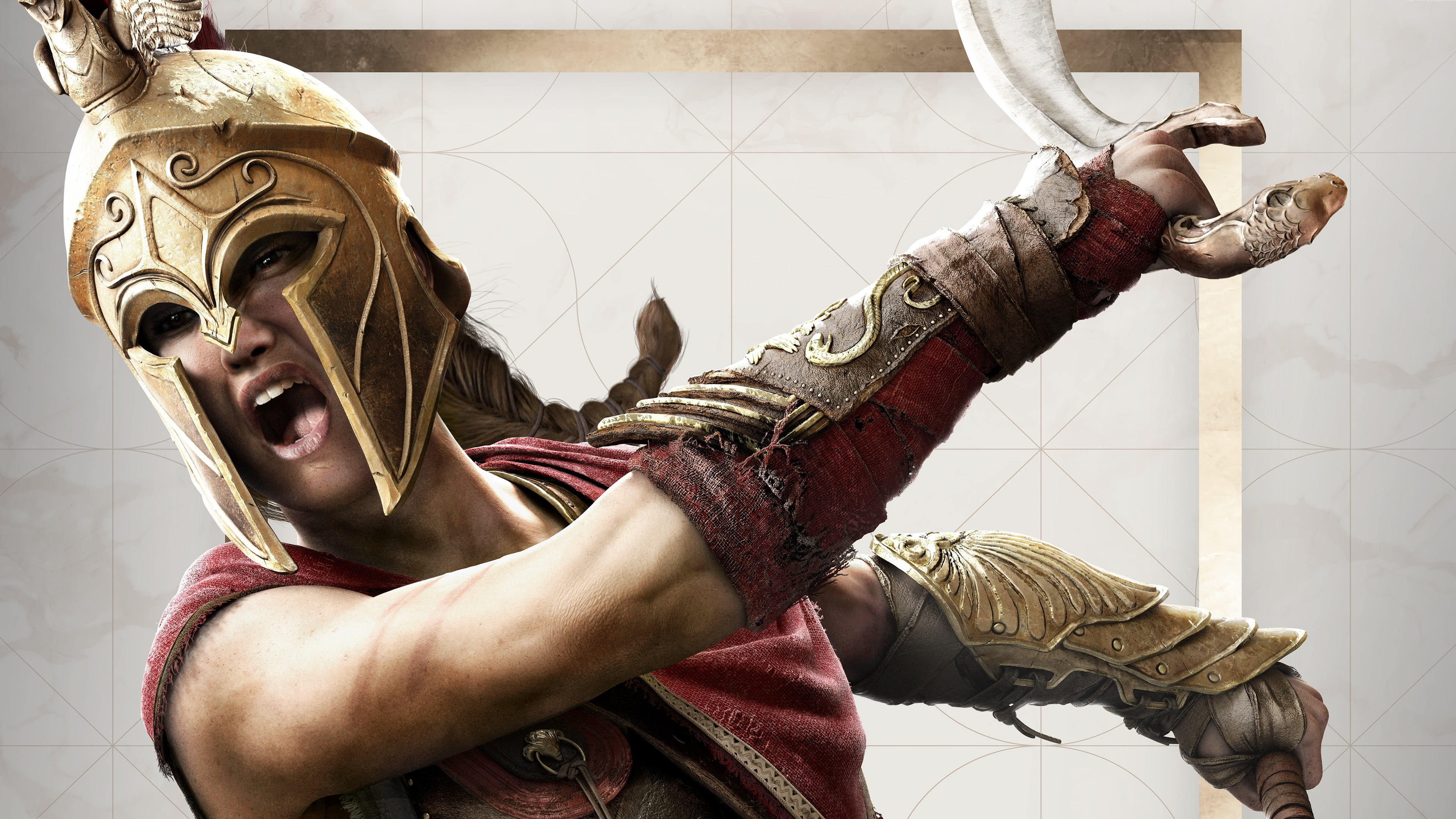 assassins creed odyssey kassandra of sparta uhd 4k wallpaper