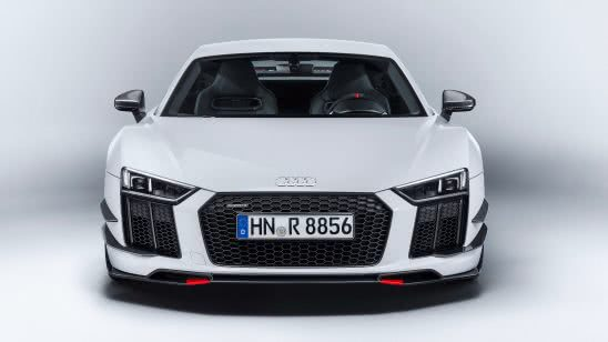audi r8 white front uhd 4k wallpaper