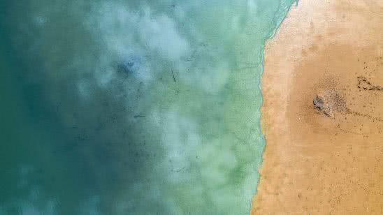 beach turquoise sea birds eye view uhd 4k wallpaper