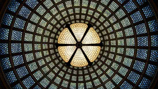 chicago cultural center glass dome united states uhd 4k wallpaper