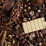 chocolate and raw cocoa beans uhd 4k wallpaper