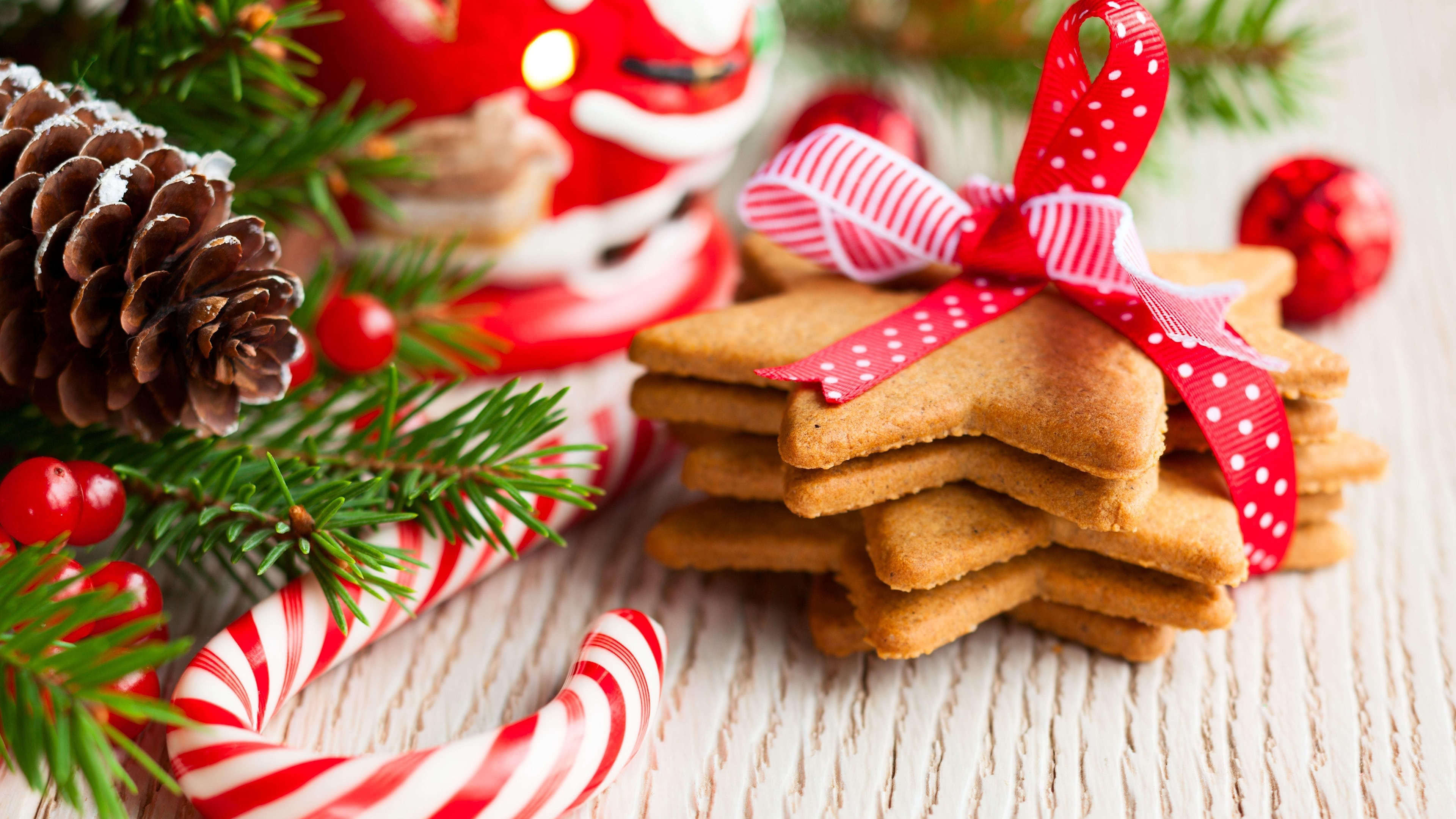christmas cookies gingerbread uhd 4k wallpaper