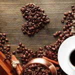 coffee bean heart uhd 4k wallpaper