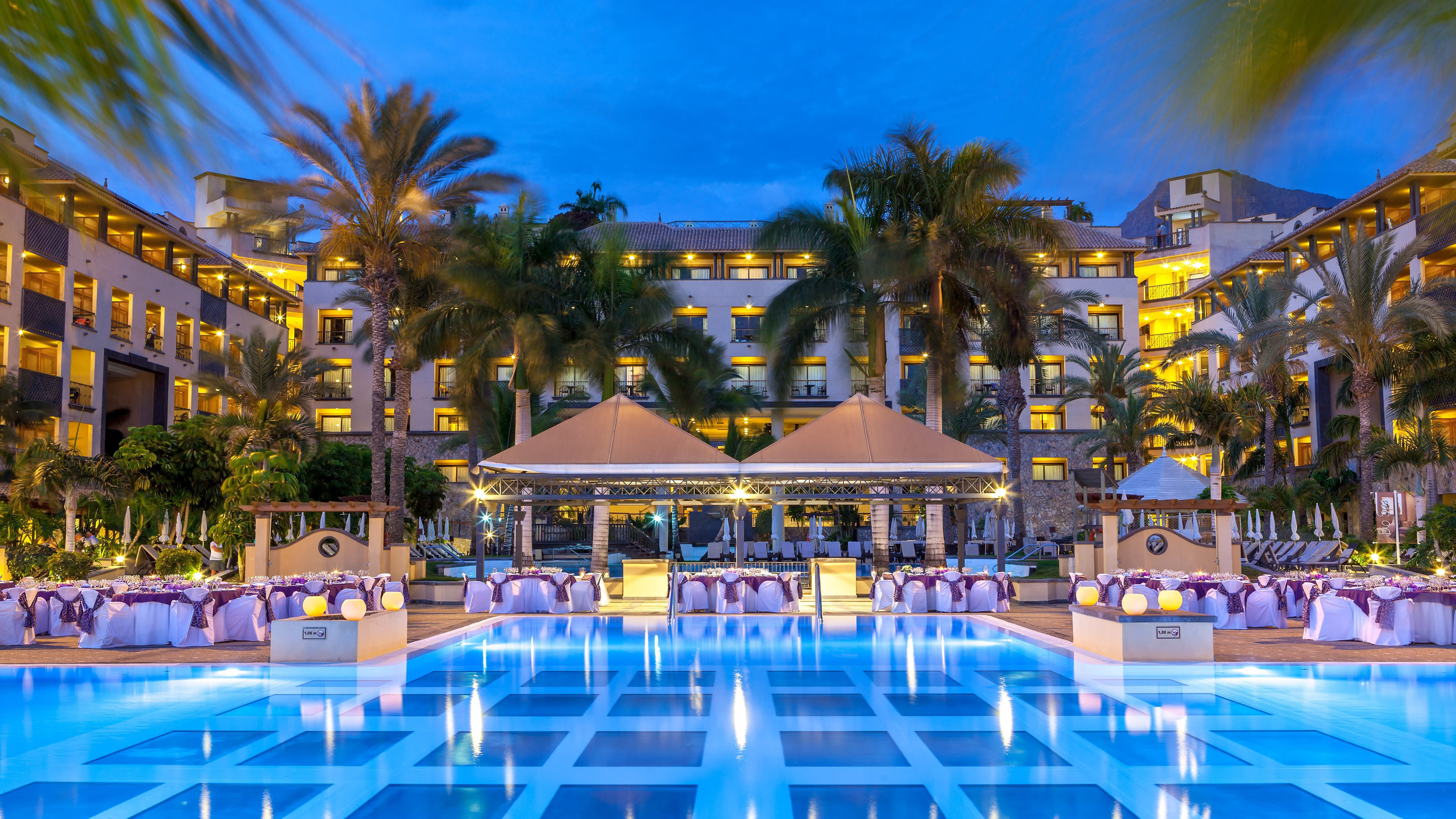 costa adeje gran hotel pool spain uhd 4k wallpaper
