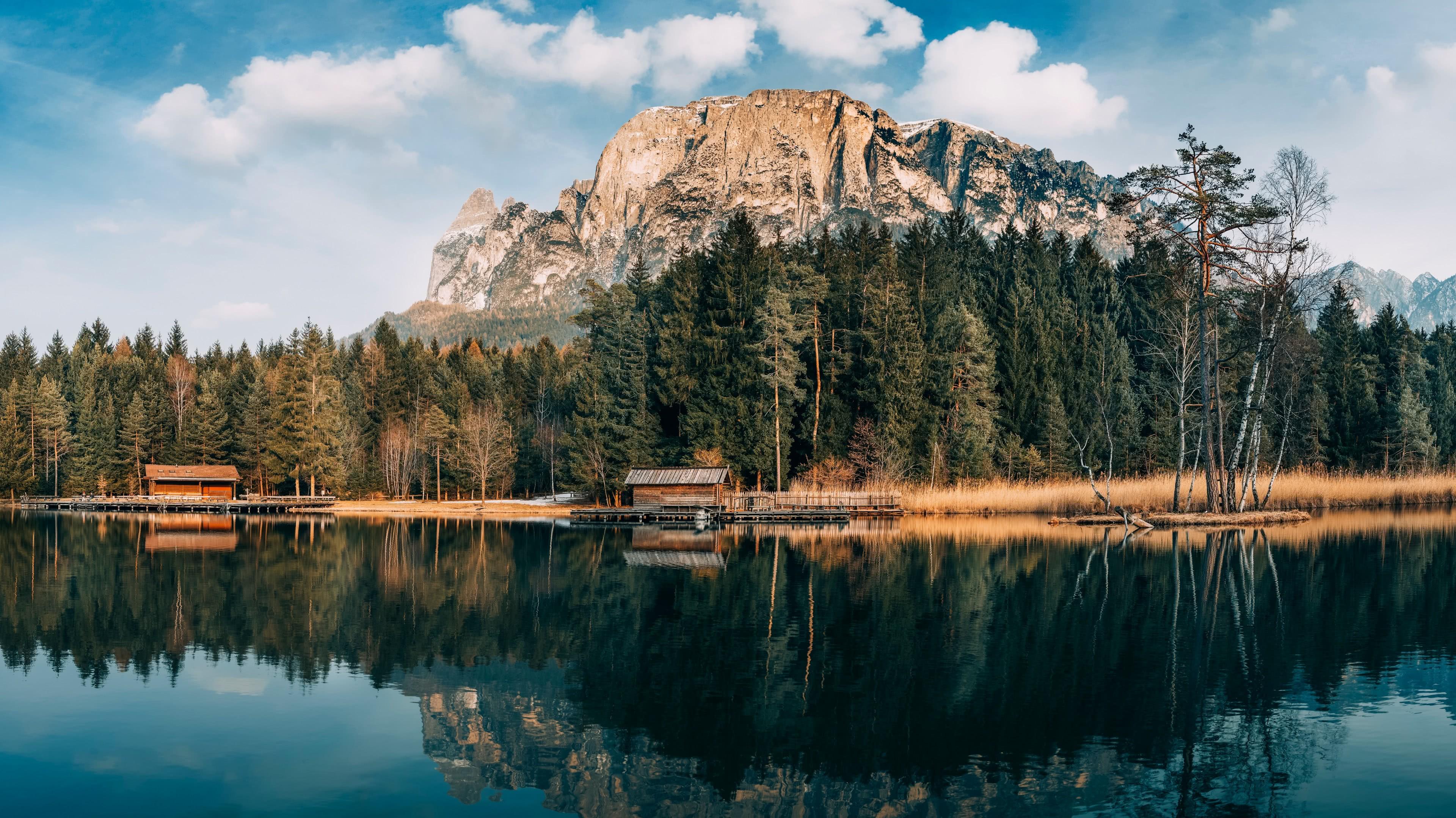 Forest Lake Cabin Landscape Uhd 4k Wallpaper Pixelz