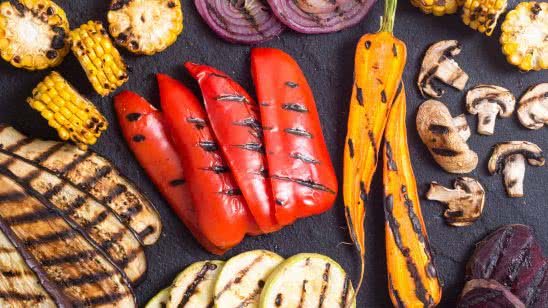 grilled vegetables uhd 4k wallpaper