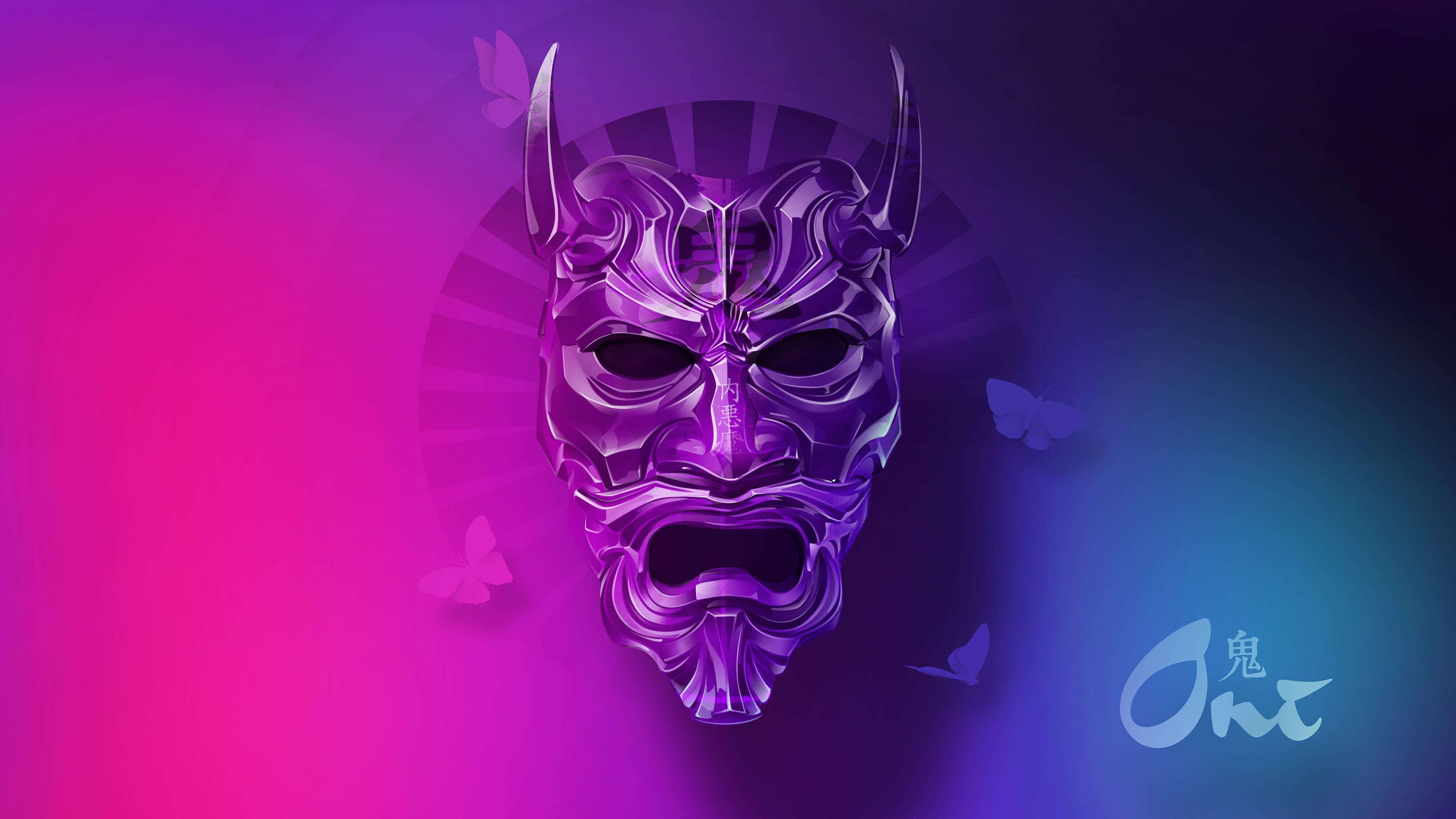 Japanese demon oni mask uhd 4k wallpaper pixelz - Demon wallpaper 4k ...