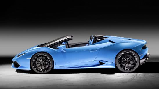 lamborghini huracan lp 610-4 spyder blue side uhd 4k wallpaper