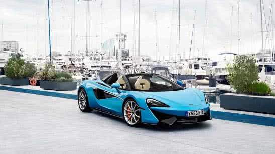 mclaren 570s spider blue uhd 4k wallpaper