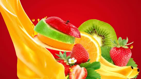 mixed fruits strawberry banana apple kiwi orange uhd 4k wallpaper