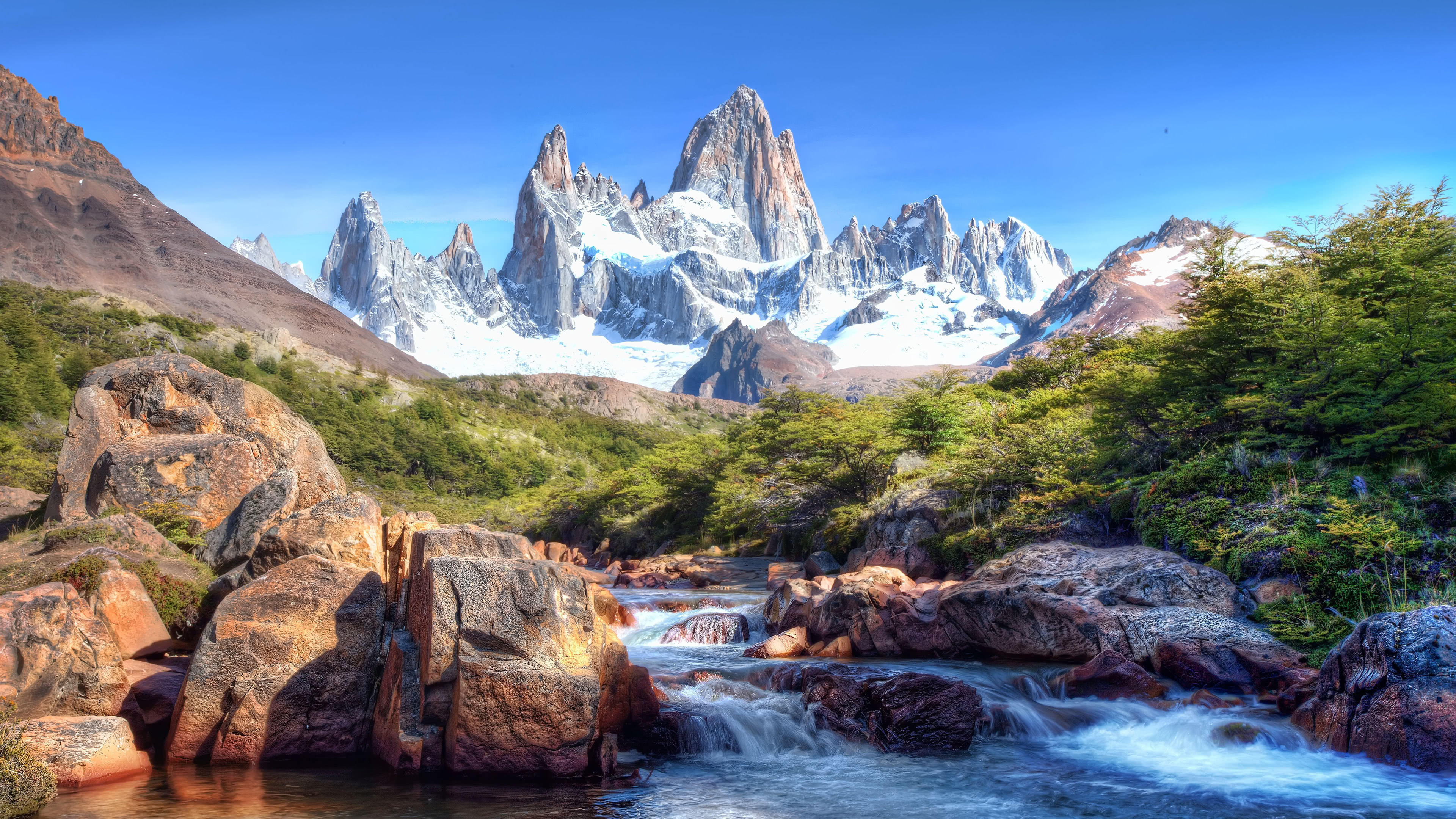 monte fitz roy patagonia uhd 4k wallpaper