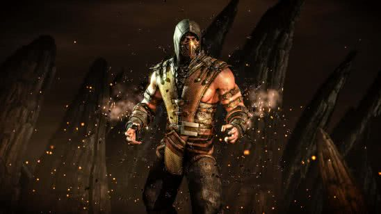 mortal kombat x scorpion inferno uhd 4k wallpaper